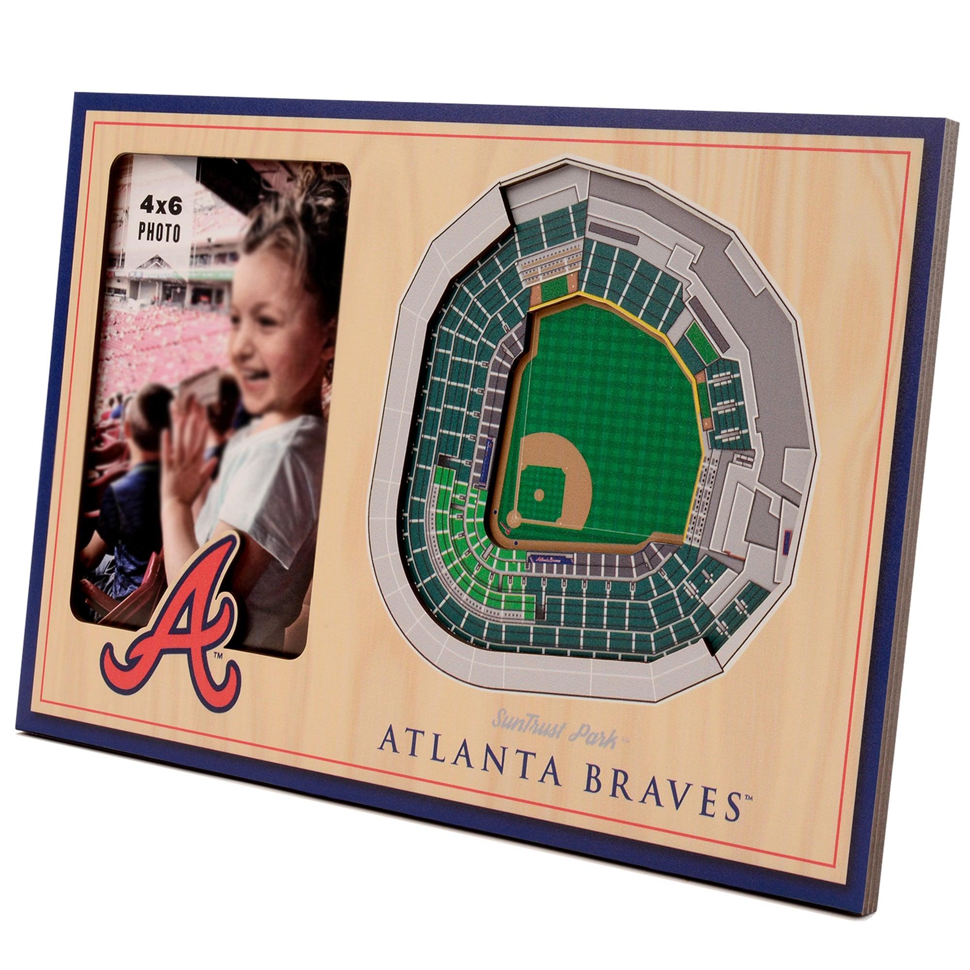 Atlanta Braves 3D StadiumViews Picture Frame - Brown