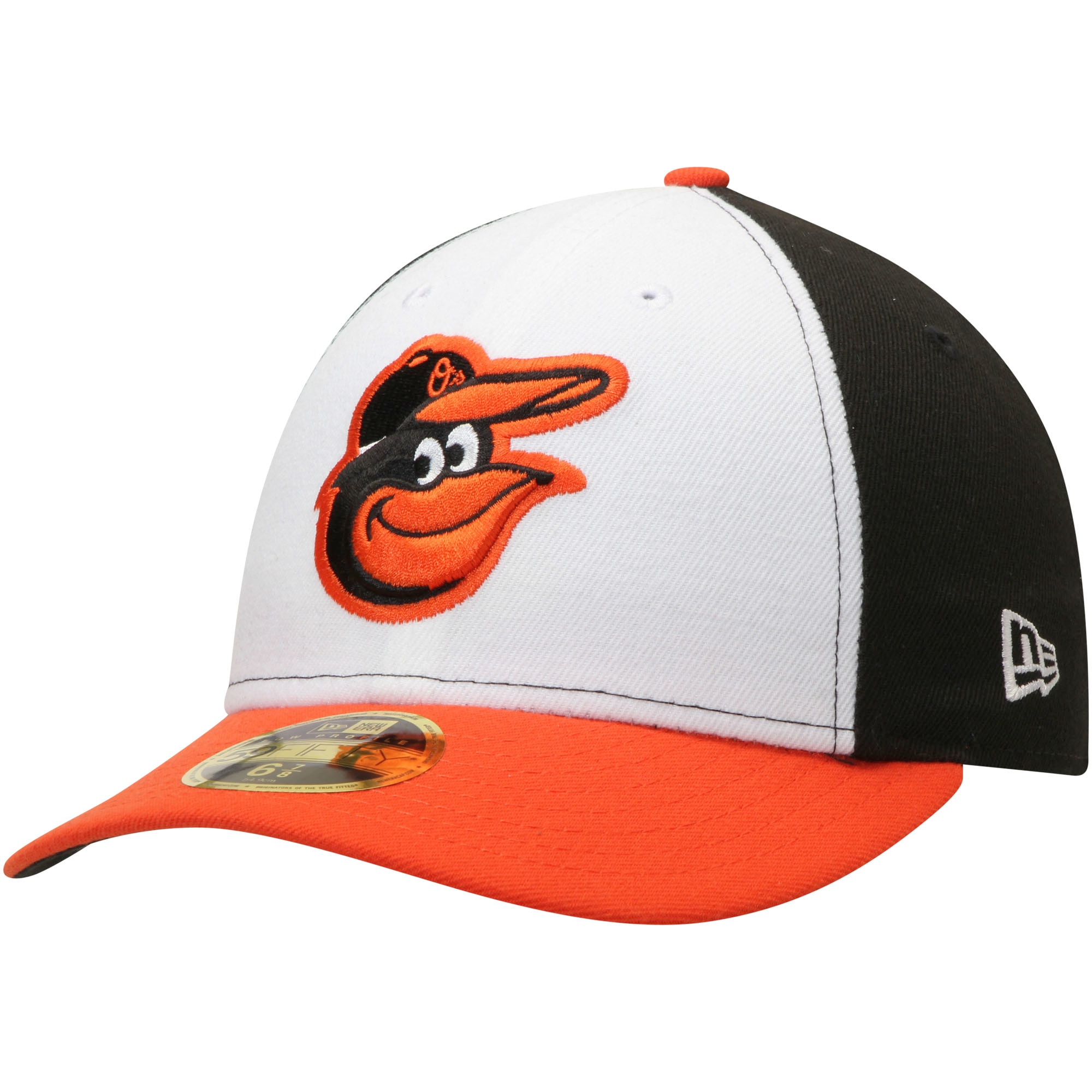 Baltimore Orioles New Era Home Authentic Collection On-Field Low Profile 59FIFTY Fitted Hat - White/Orange