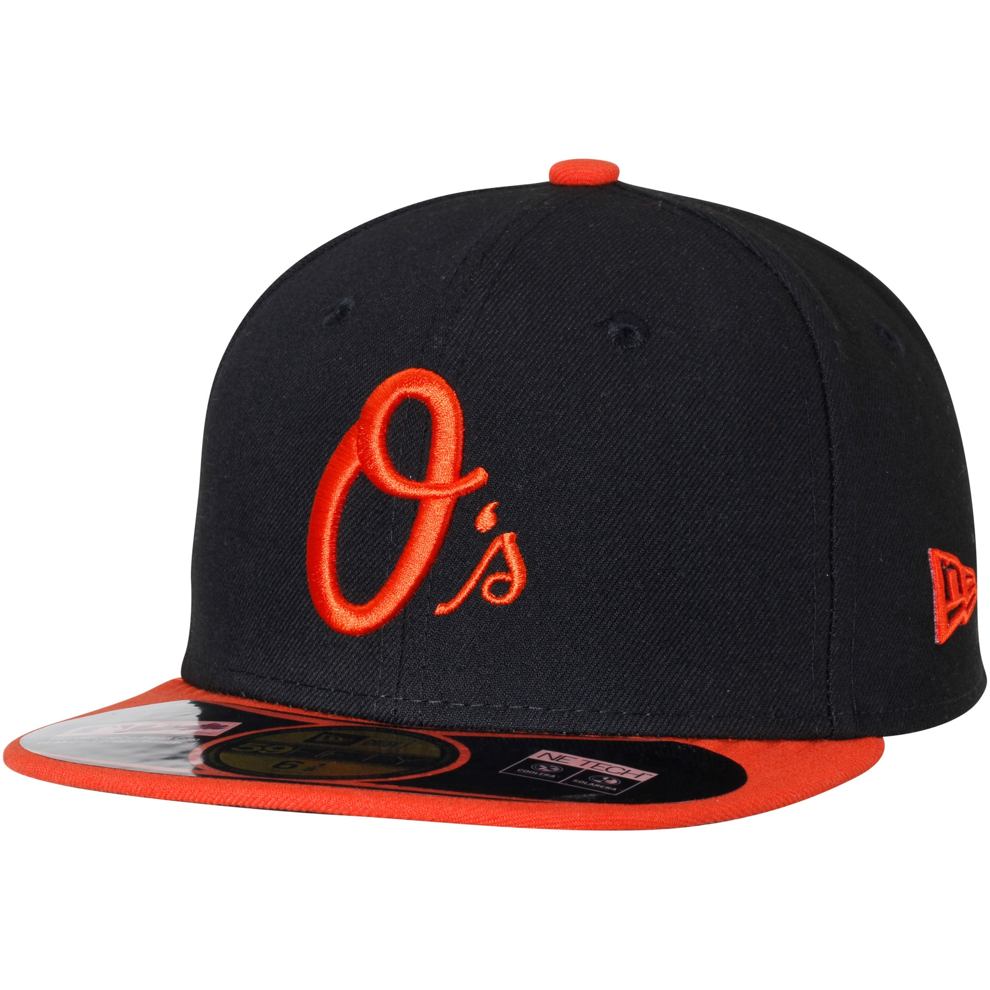 Baltimore Orioles New Era Youth Authentic Collection On-Field Alternate 59FIFTY Fitted Hat - Black/Orange