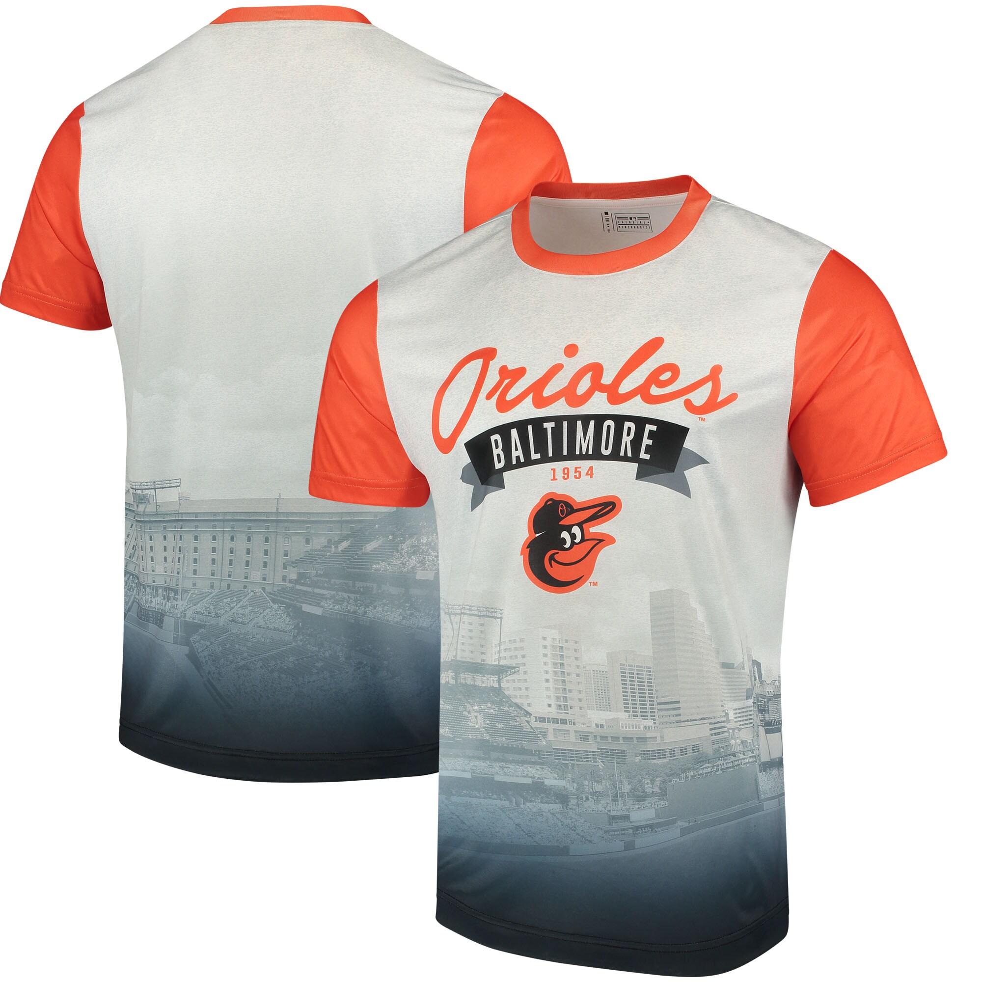 Baltimore Orioles Outfield Photo T-Shirt - White/Orange
