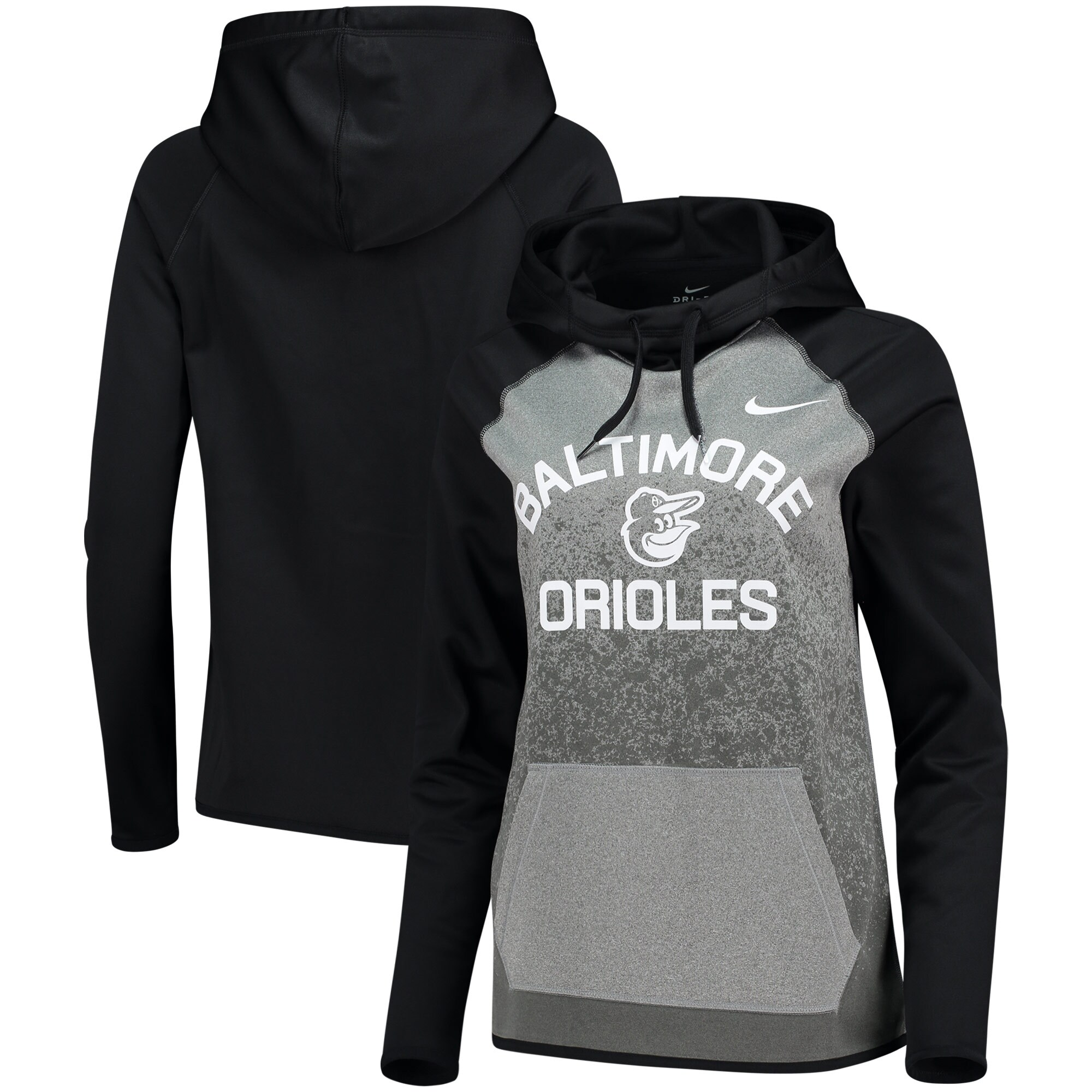 Baltimore Orioles Nike Women's All-Time Therma Performance Pullover Hoodie - Dark Gray
