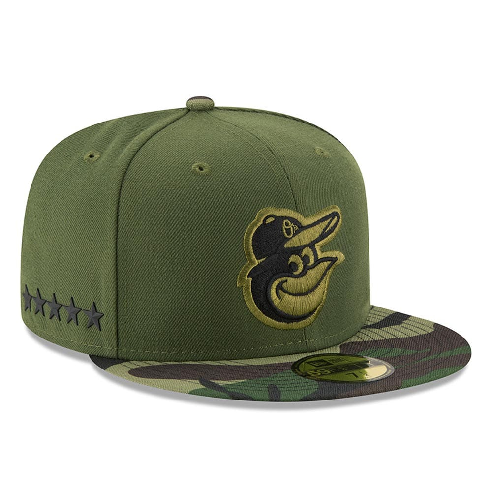 Baltimore Orioles New Era 2017 Memorial Day 59FIFTY Fitted Hat - Green