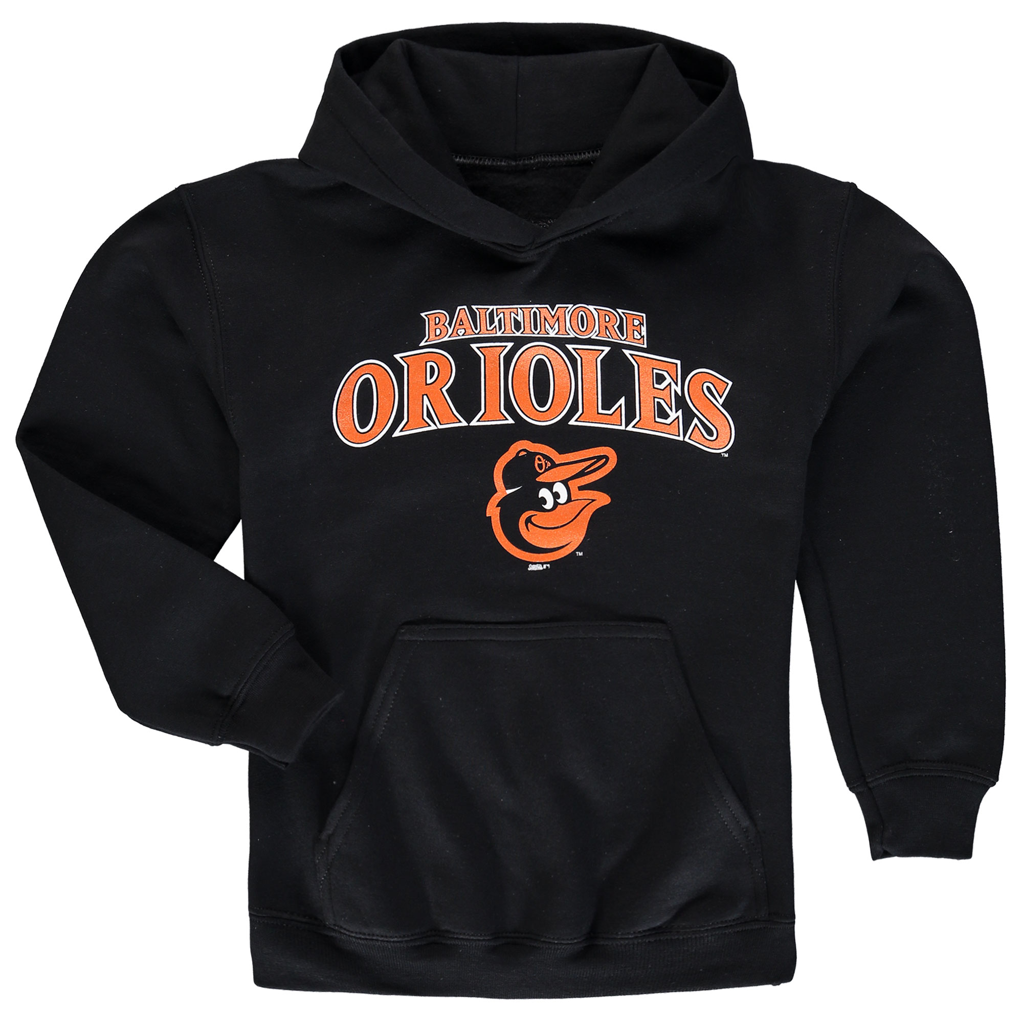 Baltimore Orioles Stitches Youth Team Fleece Pullover Hoodie - Black