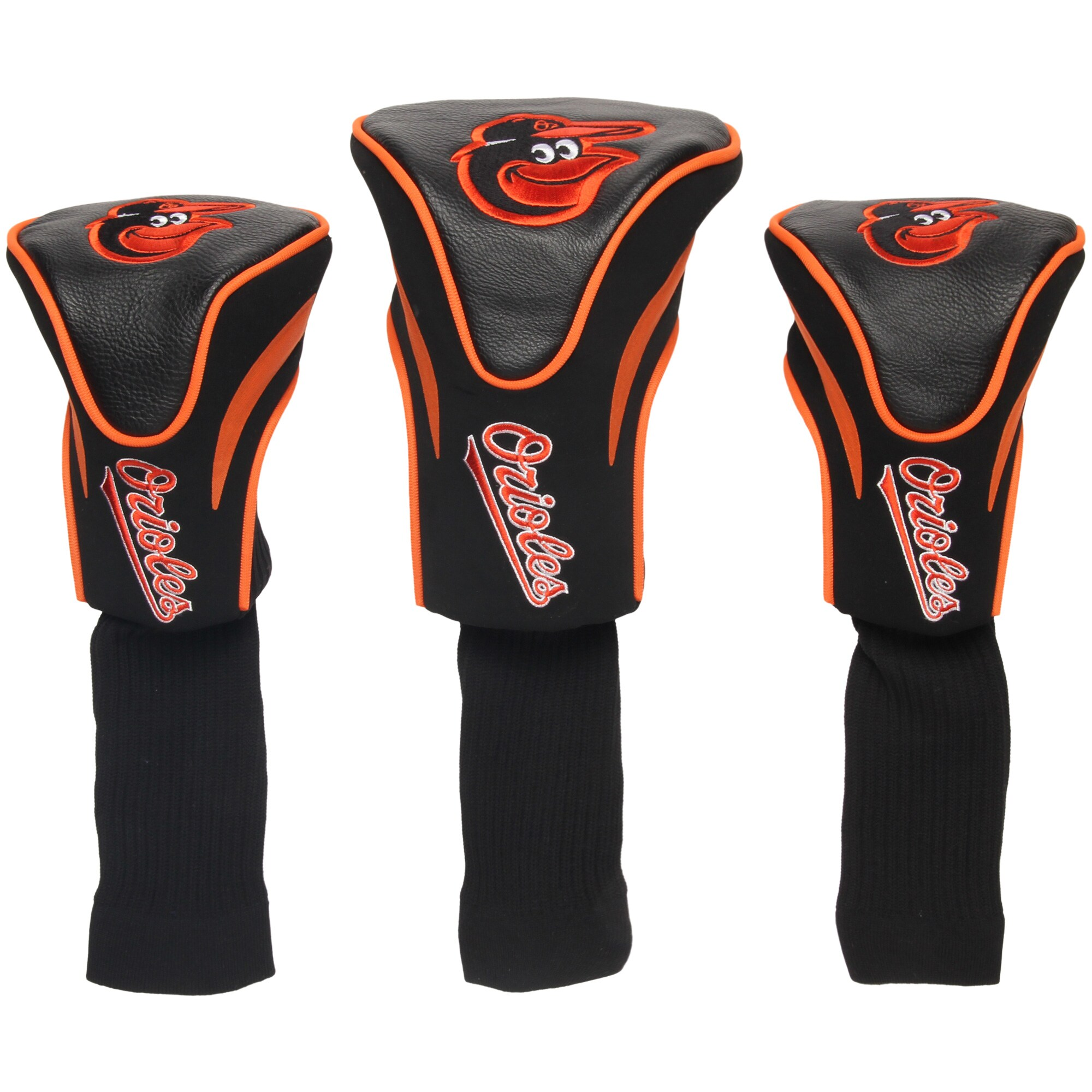 Baltimore Orioles 3-Pack Contour Golf Club Head Covers -