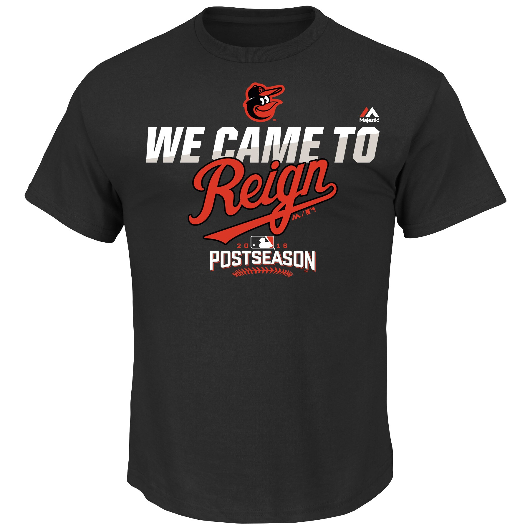 Baltimore Orioles Majestic Big & Tall 2016 Postseason Authentic Collection We Came to Reign T-Shirt - Black