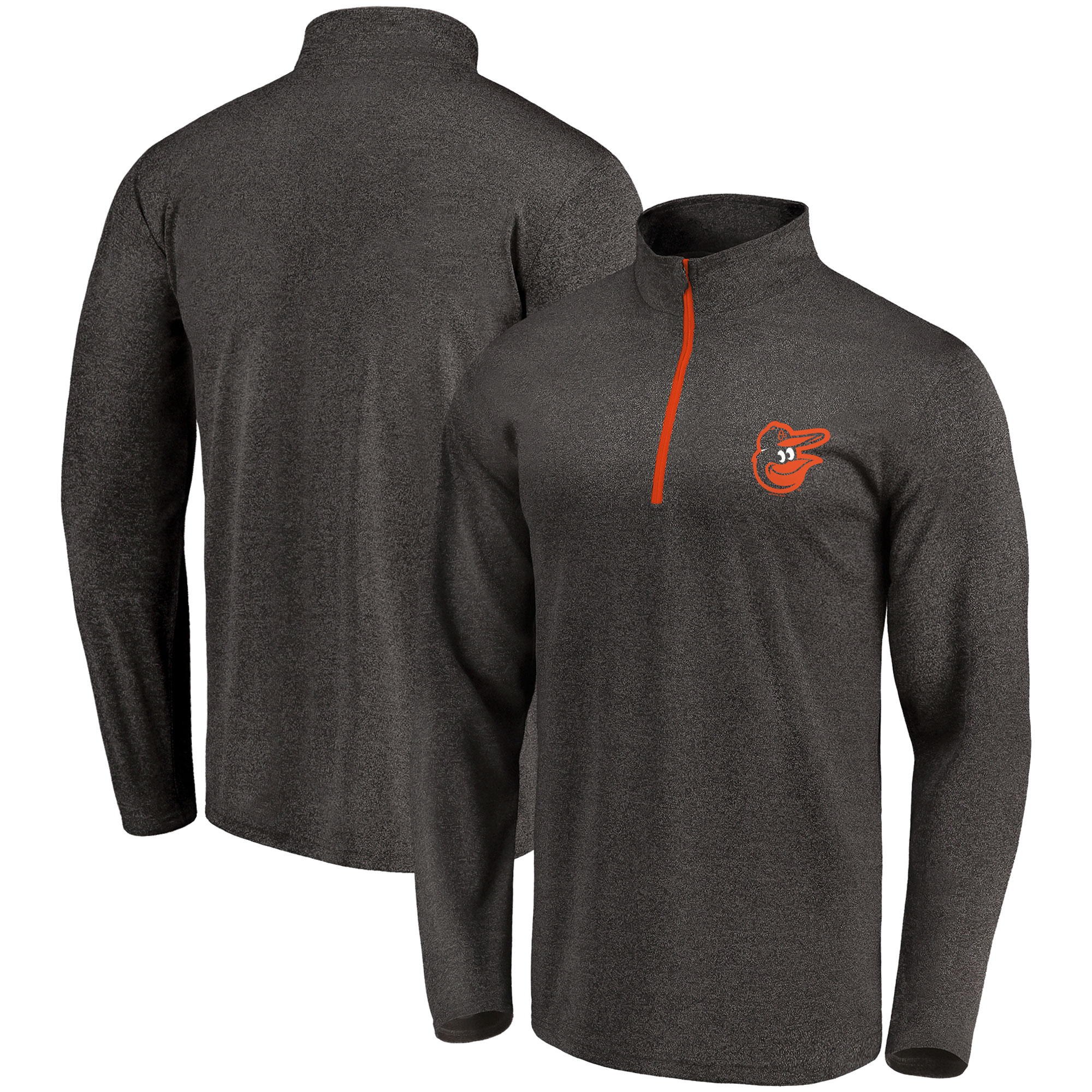 Baltimore Orioles Fanatics Branded Overtime Buzzer Quarter-Zip Pullover Jacket - Black
