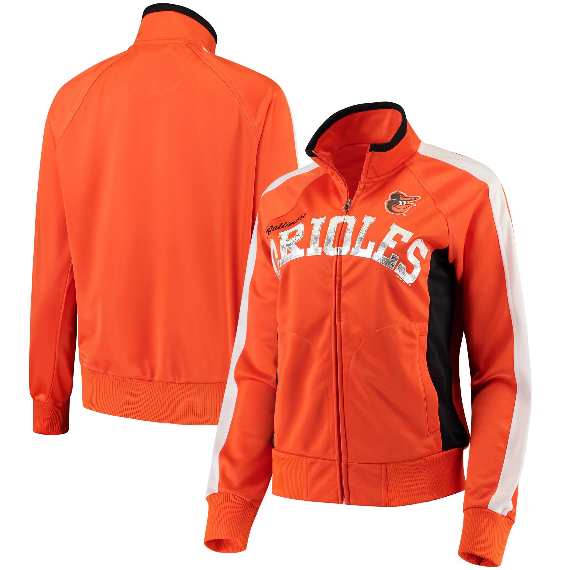 Baltimore Orioles G-III Sports by Carl Banks Women's Breaking Ball Full-Zip Track Jacket - Orange