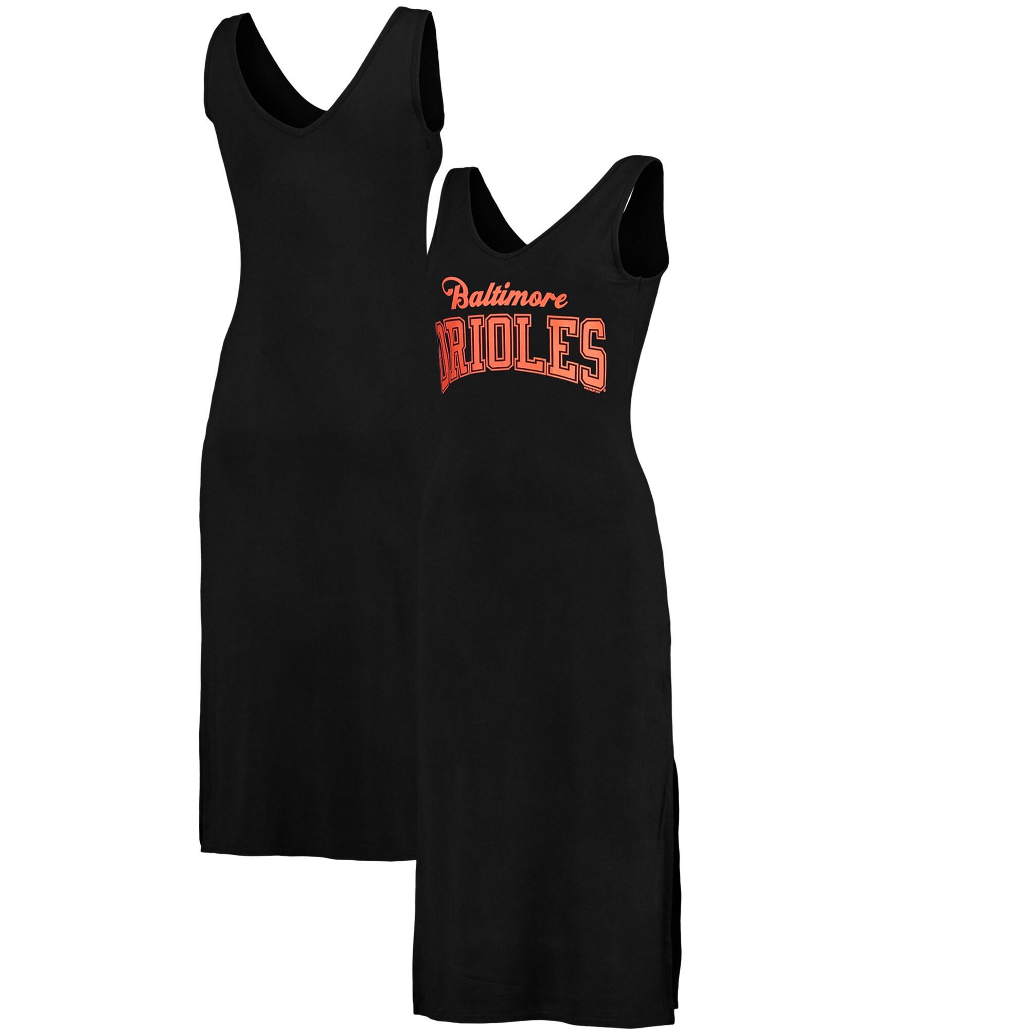 Baltimore Orioles G-III 4Her by Carl Banks Women's Sideline Maxi Dress - Black/Orange