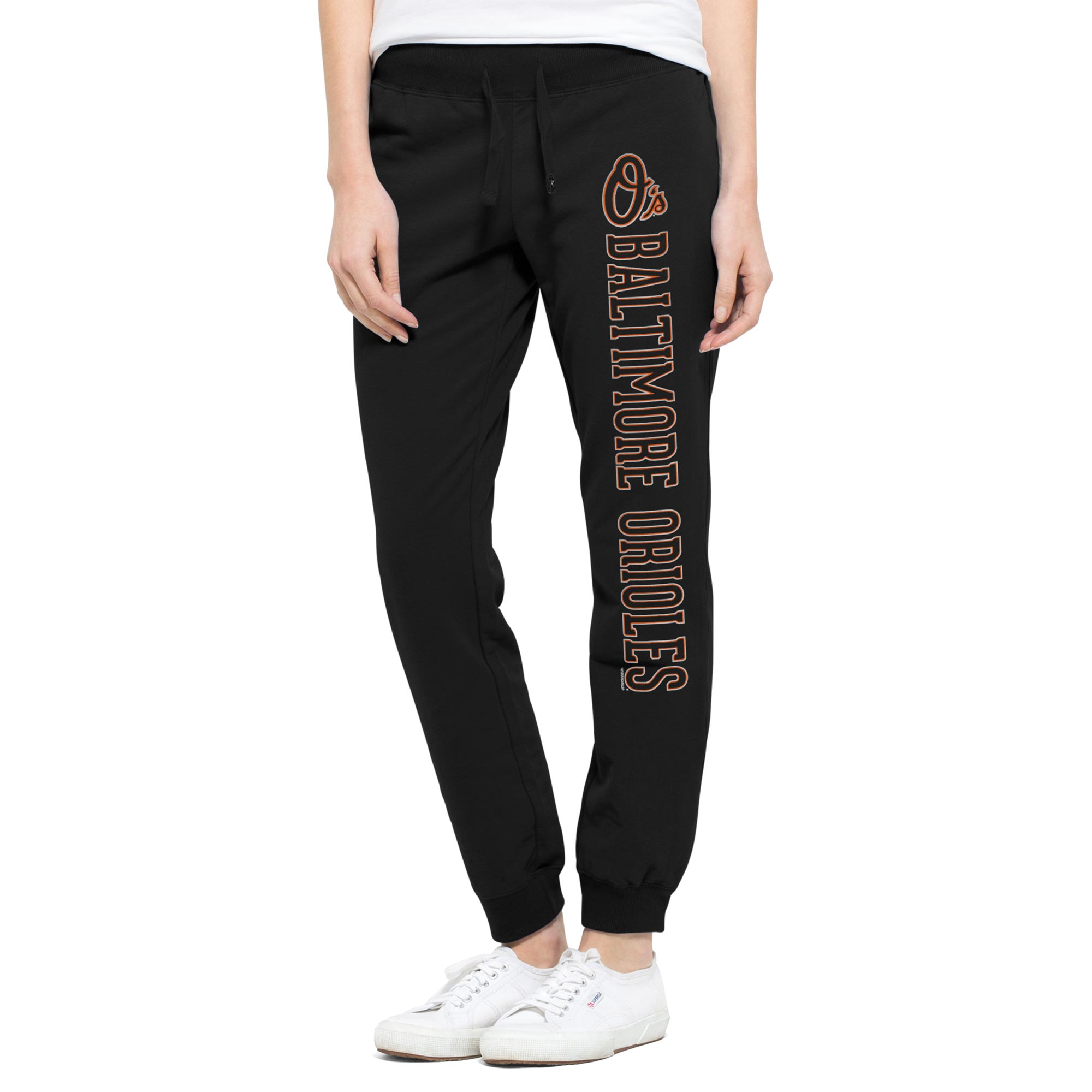 Baltimore Orioles '47 Women's Shimmer Cross Check Jogger Pants - Black