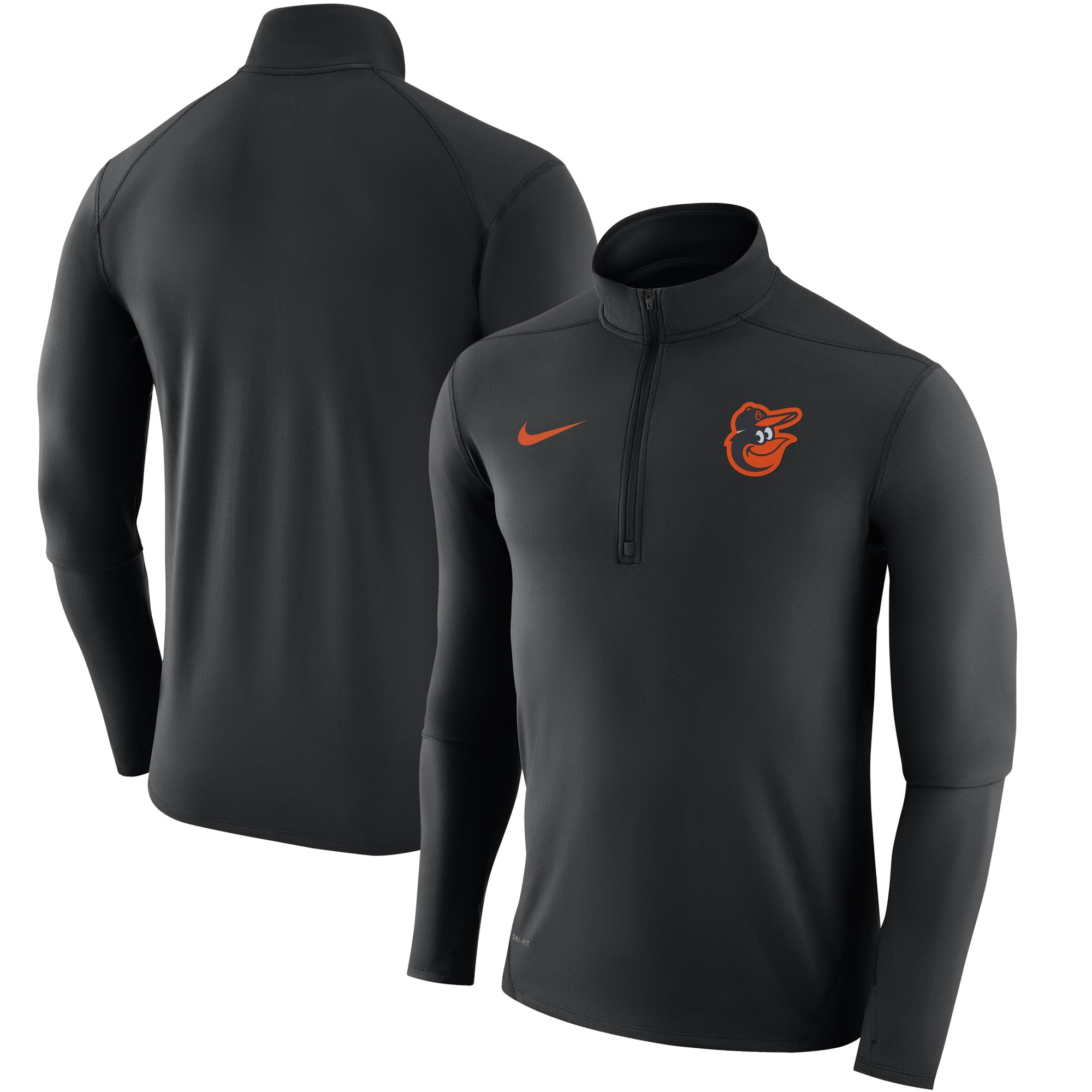 Baltimore Orioles Nike Element Half-Zip Performance Top - Black