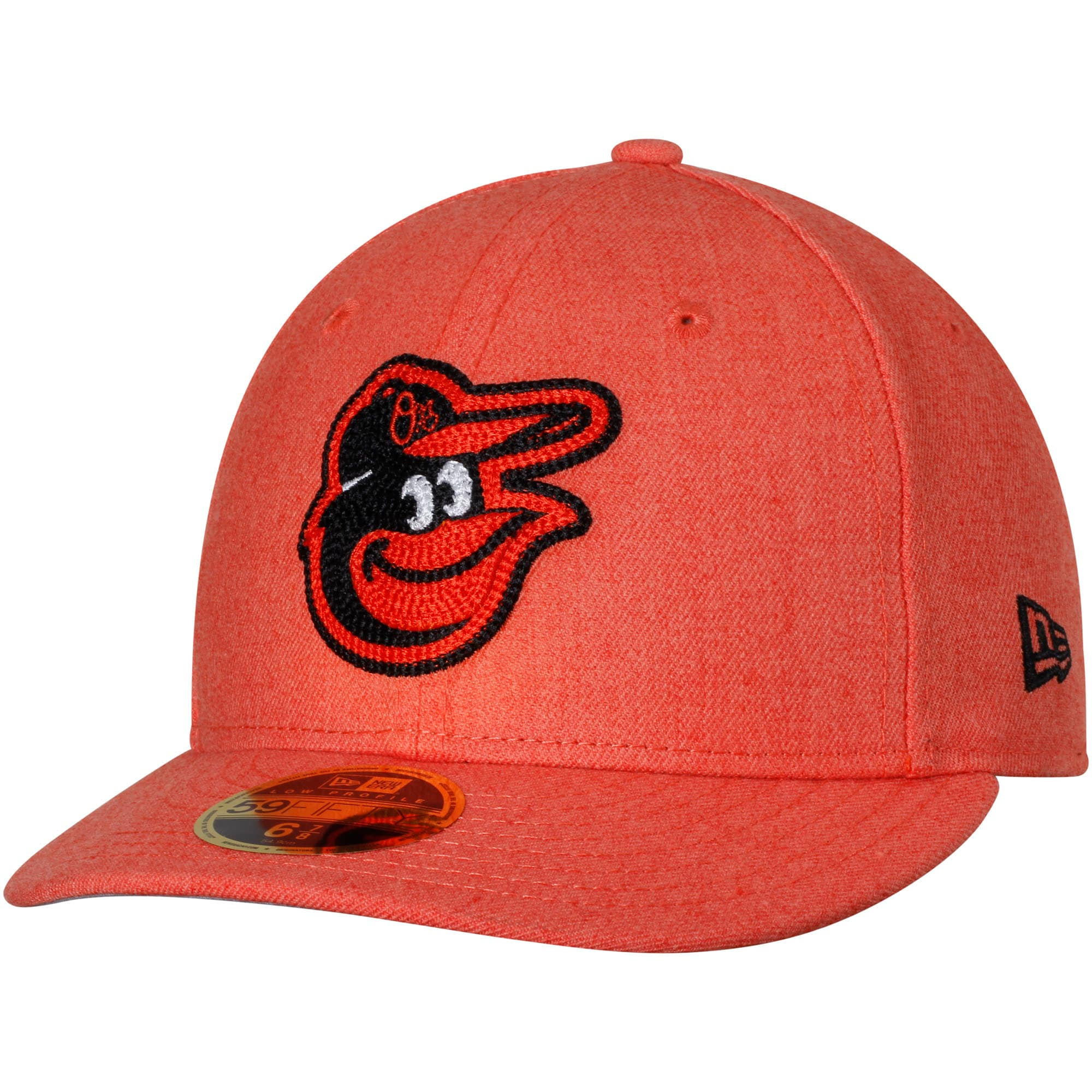 Baltimore Orioles New Era Crisp Low Profile 59FIFTY Fitted Hat - Heathered Orange