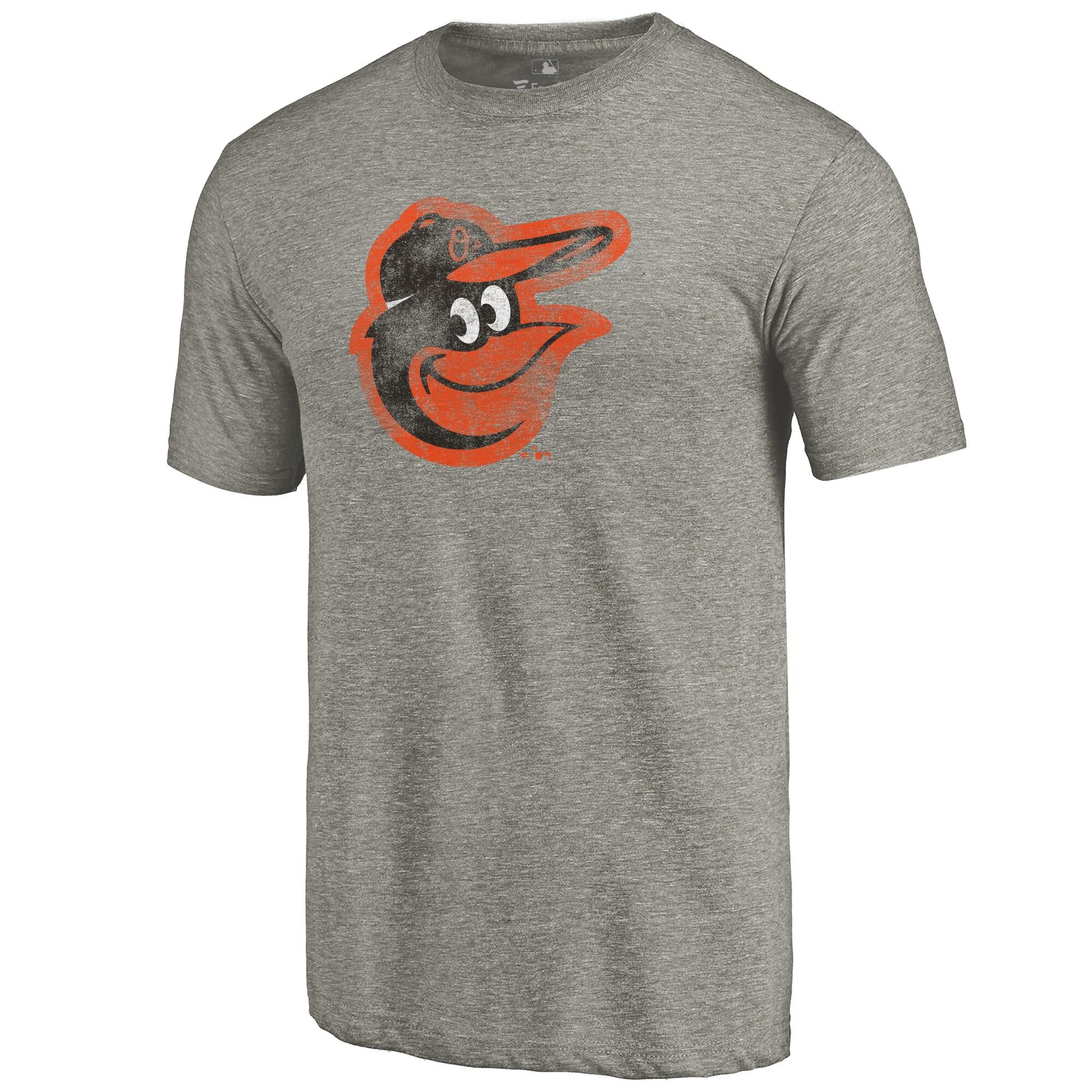Baltimore Orioles Distressed Team Tri-Blend T-Shirt - Ash