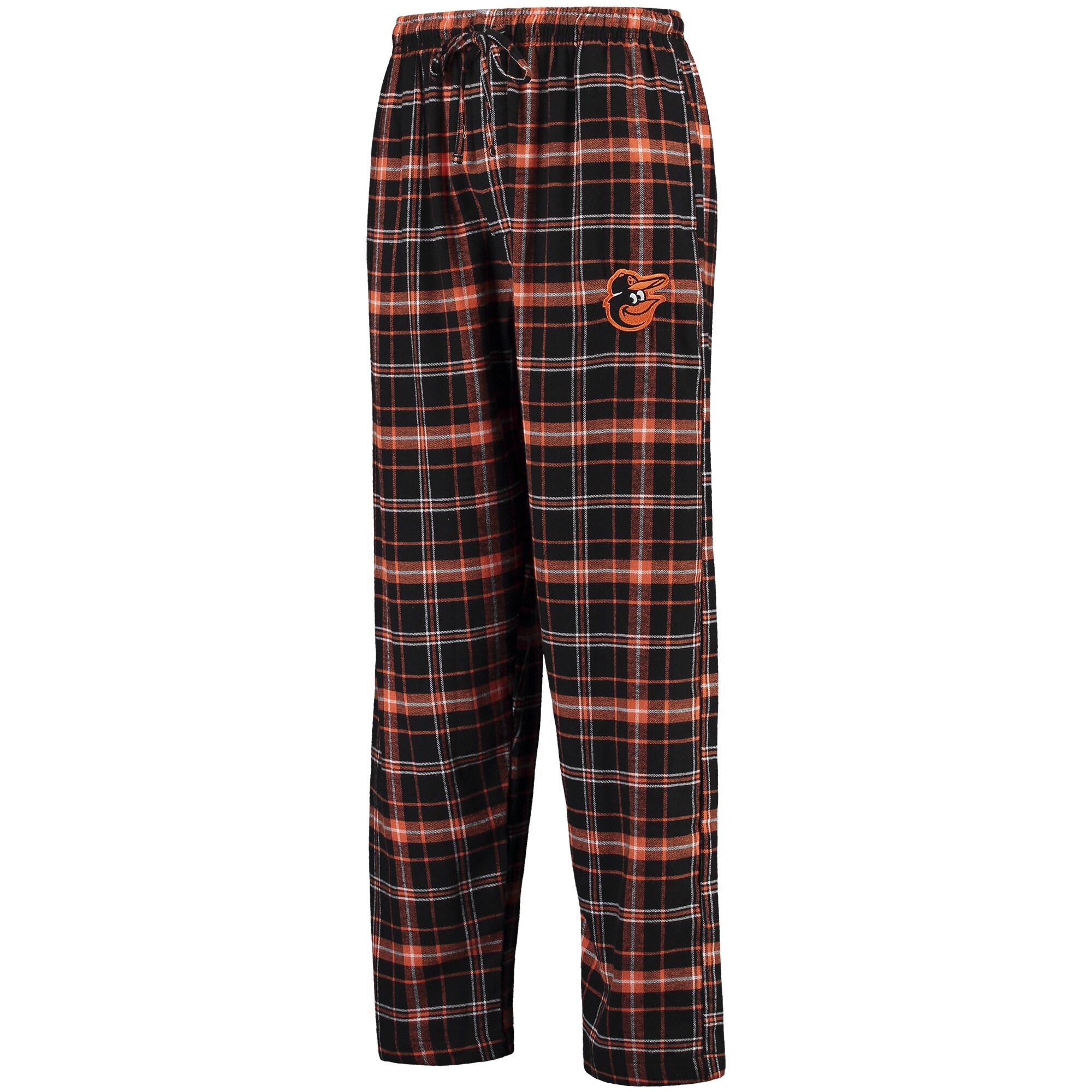 Baltimore Orioles Concepts Sport Ultimate Plaid Flannel Pants - Black/Orange