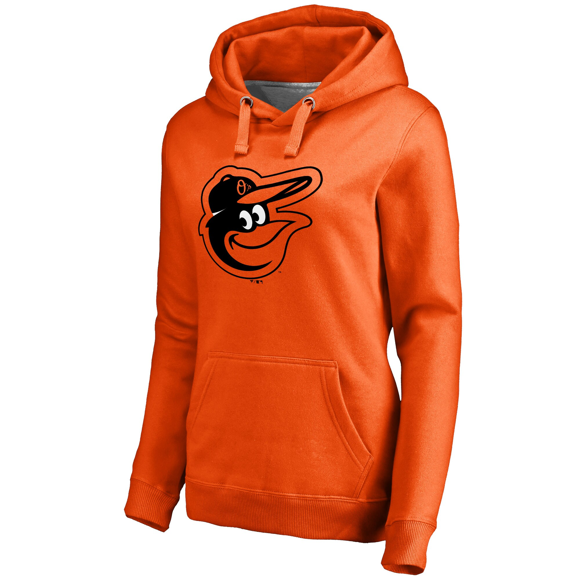 Baltimore Orioles Women's Secondary Color Primary Logo Pullover Hoodie - Orange
