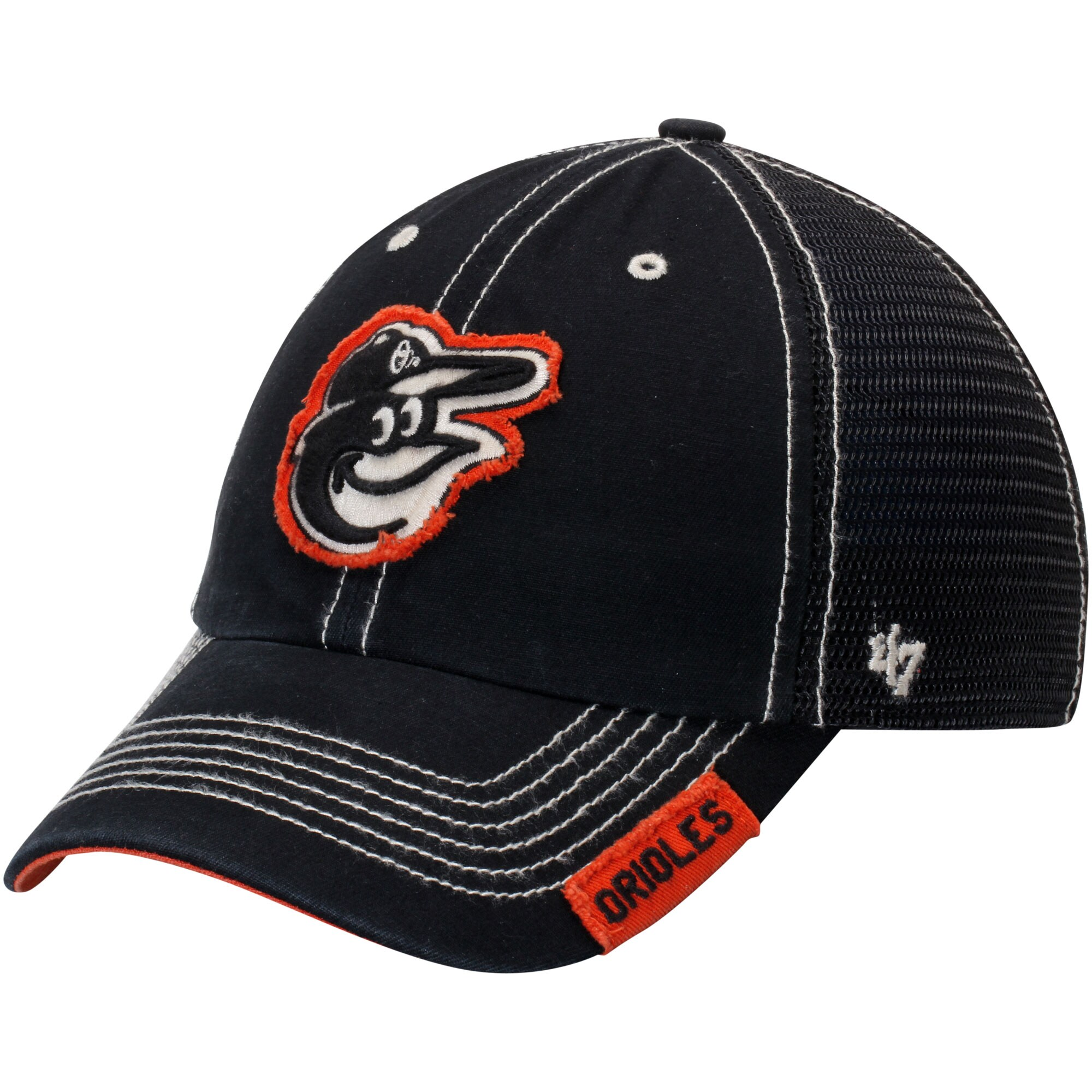 Baltimore Orioles '47 Turner Clean-Up Adjustable Hat - Black