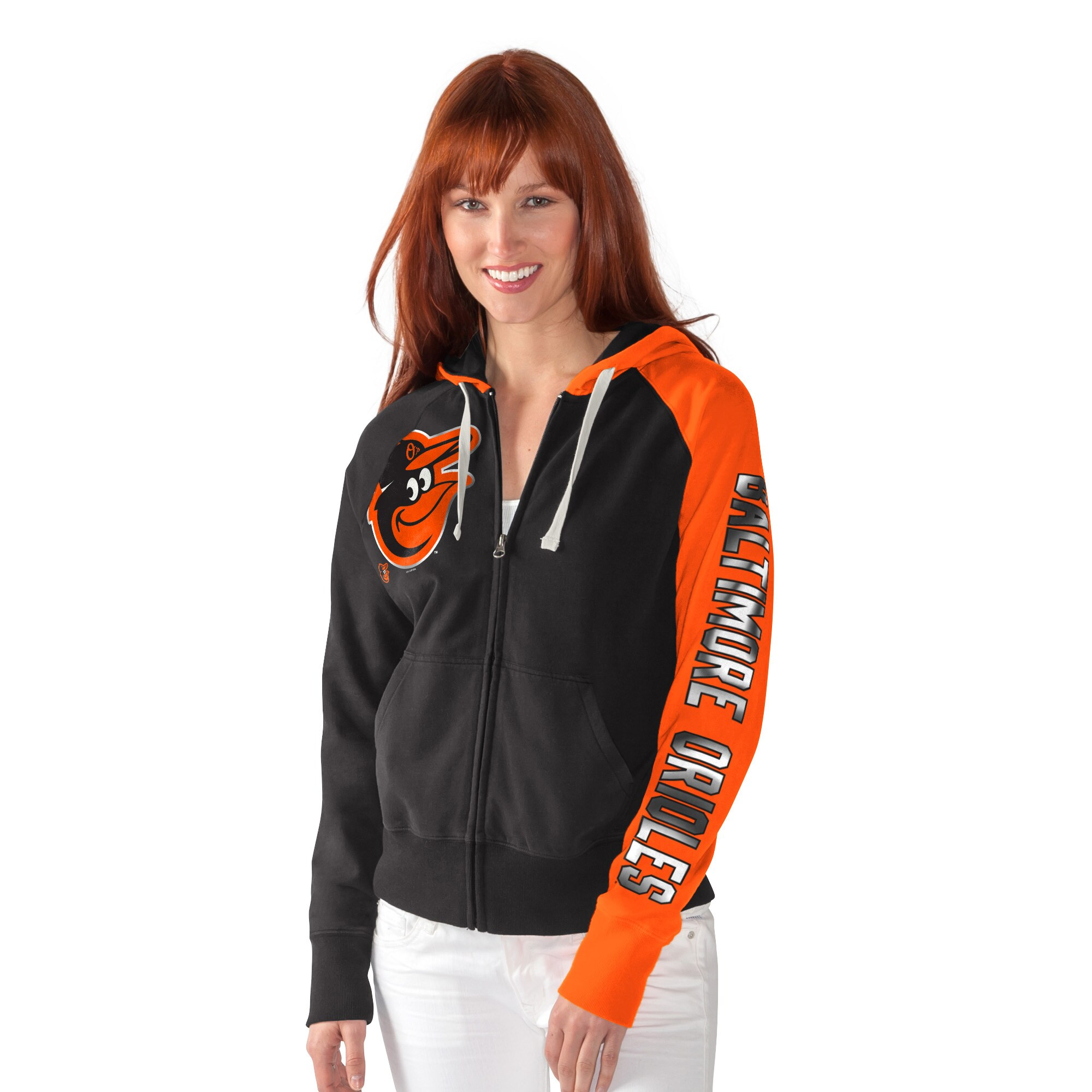 Baltimore Orioles G-III Sports by Carl Banks Women's South Paw Full-Zip Hoodie - Black