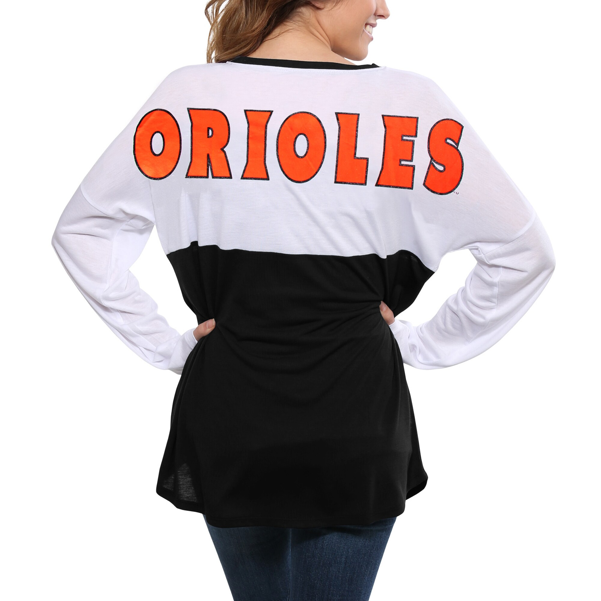 Baltimore Orioles Concepts Sport Women's Comeback Long Sleeve T-Shirt - White/Black