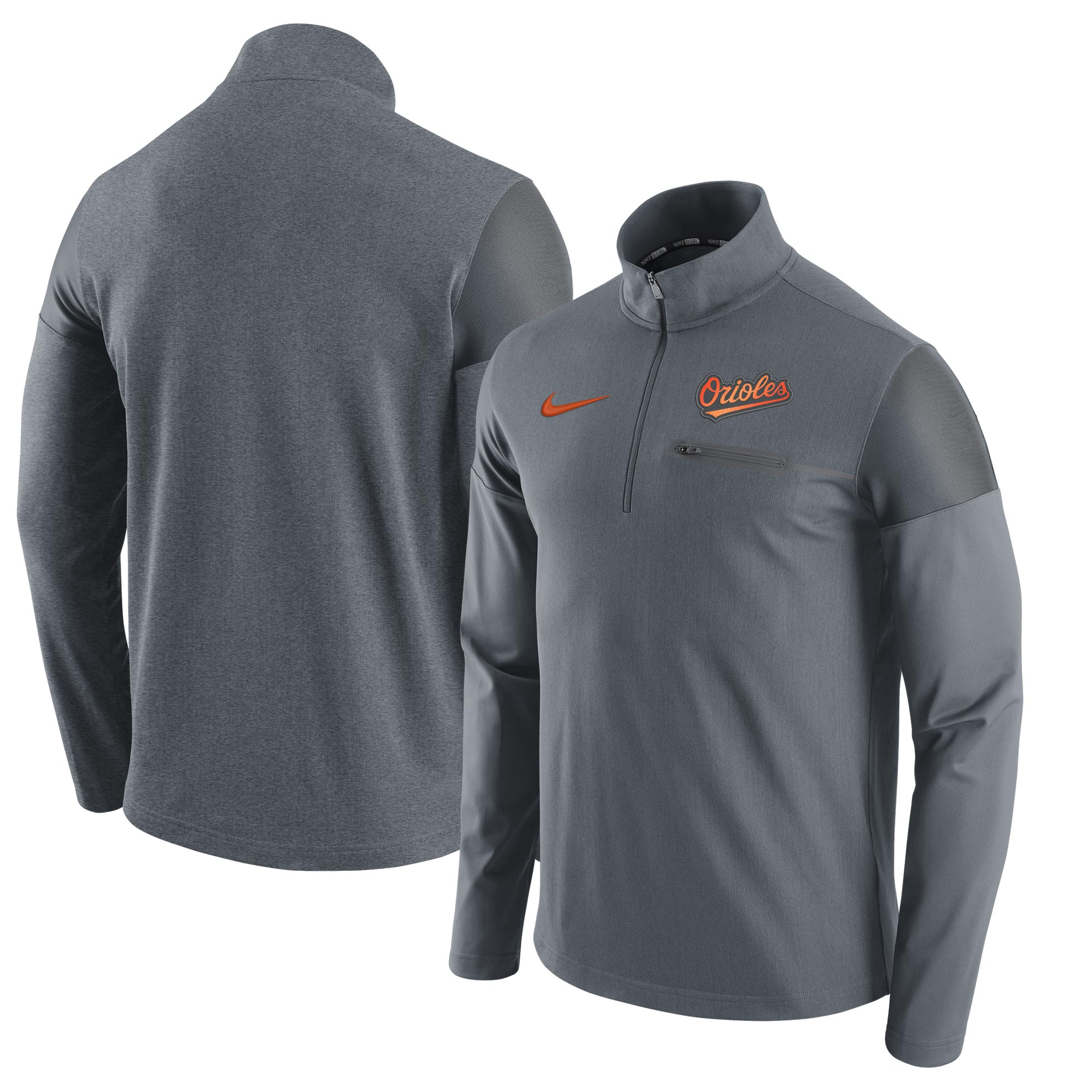 Baltimore Orioles Nike Elite Half-Zip Pullover Jacket - Gray