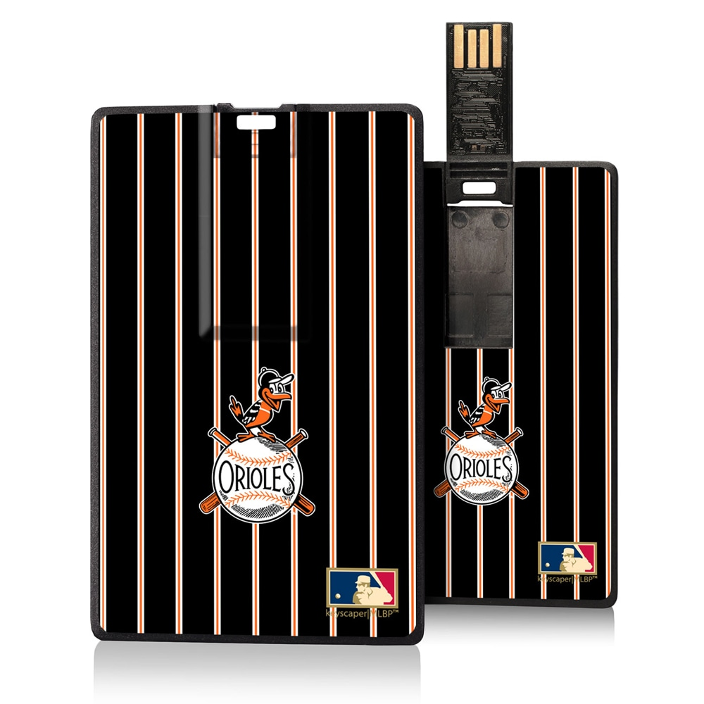 Baltimore Orioles 1954-1963 Cooperstown Pinstripe Credit Card USB Drive