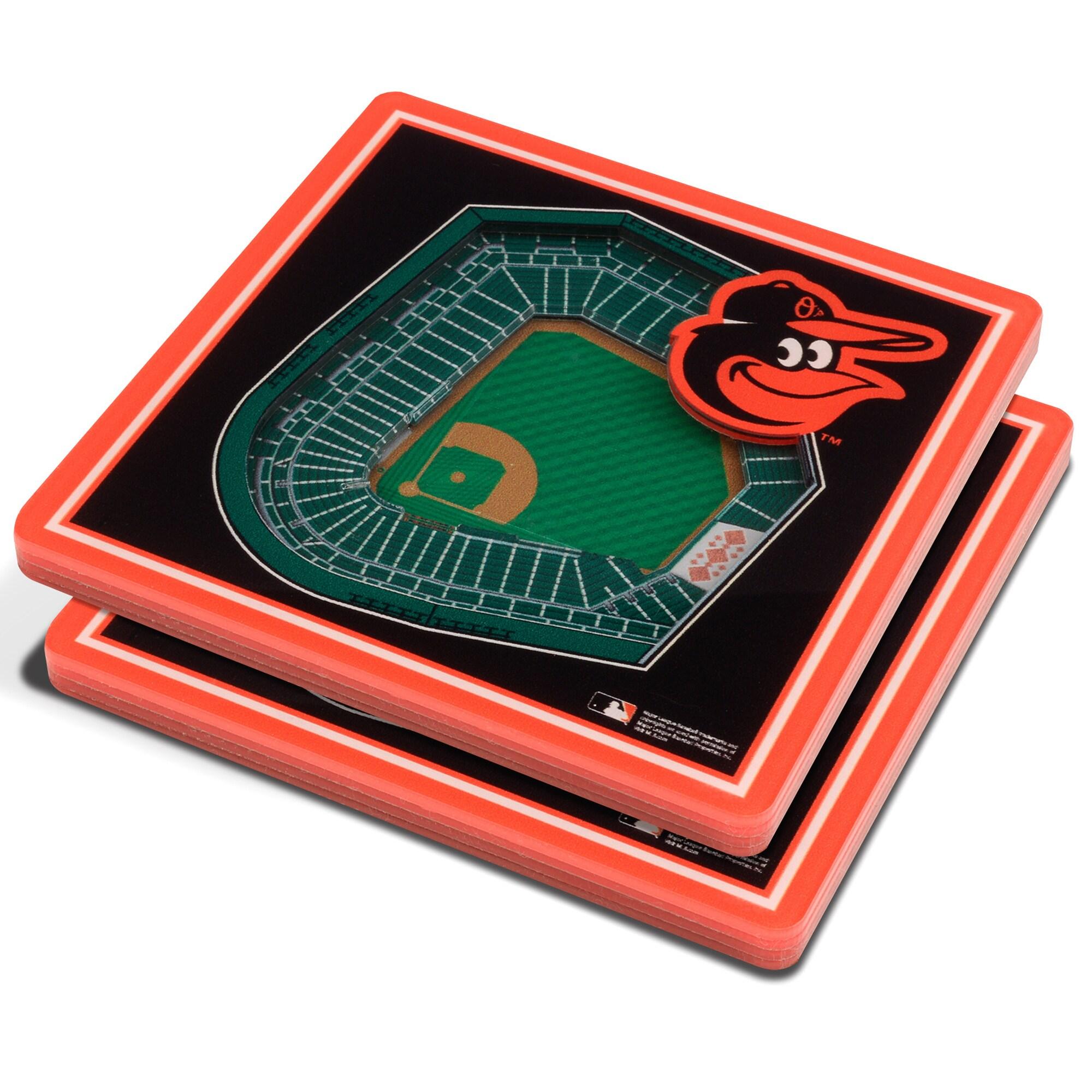 Baltimore Orioles 3D StadiumViews Coasters - Black