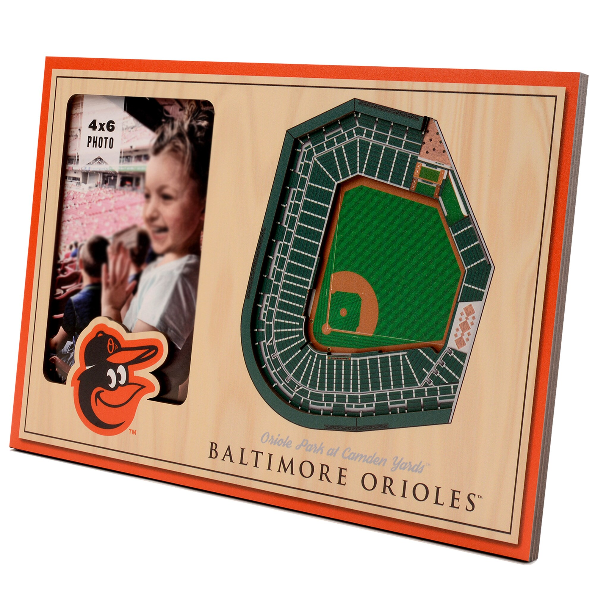 Baltimore Orioles 3D StadiumViews Picture Frame - Brown