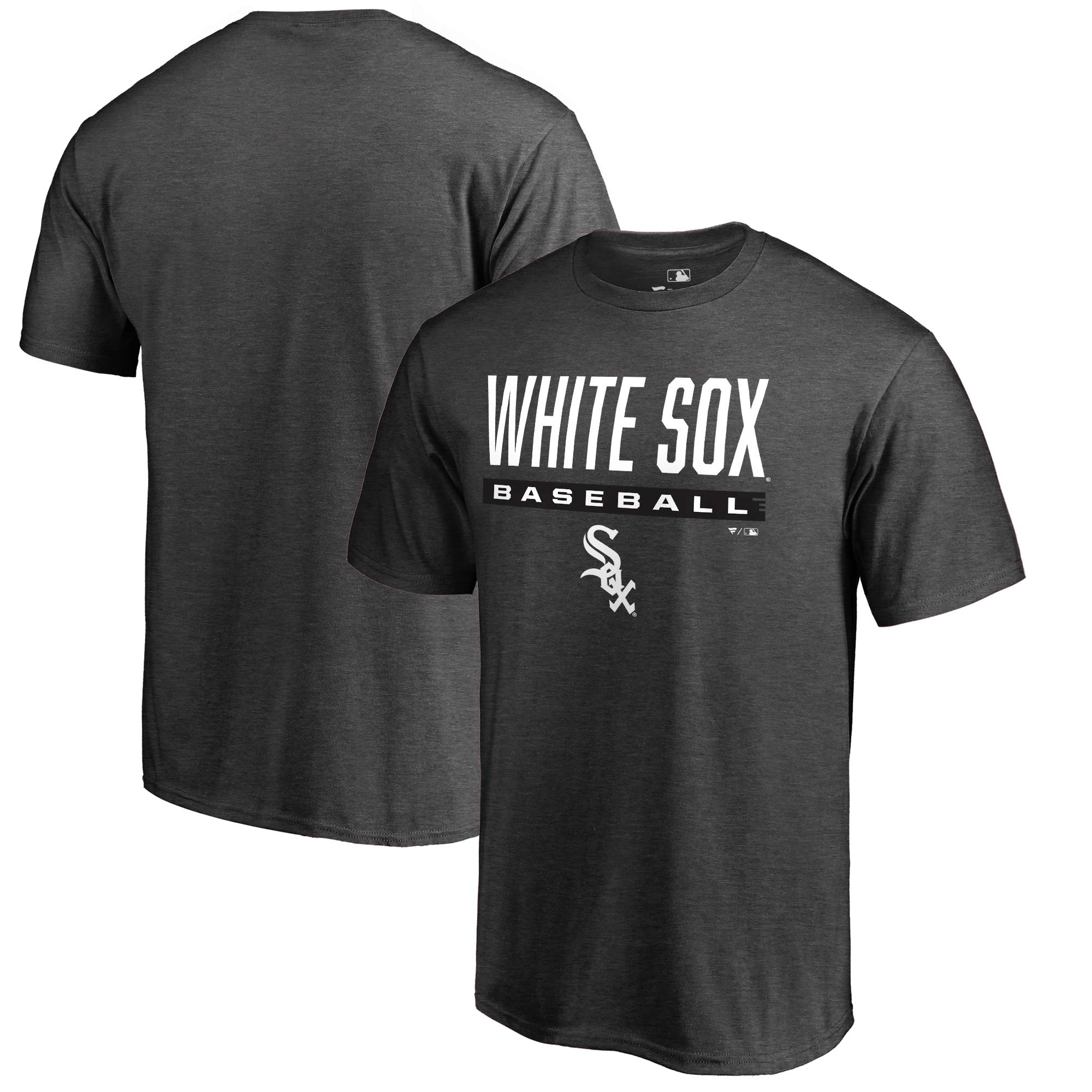 Chicago White Sox Fanatics Branded Win Stripe T-Shirt - Heathered Charcoal