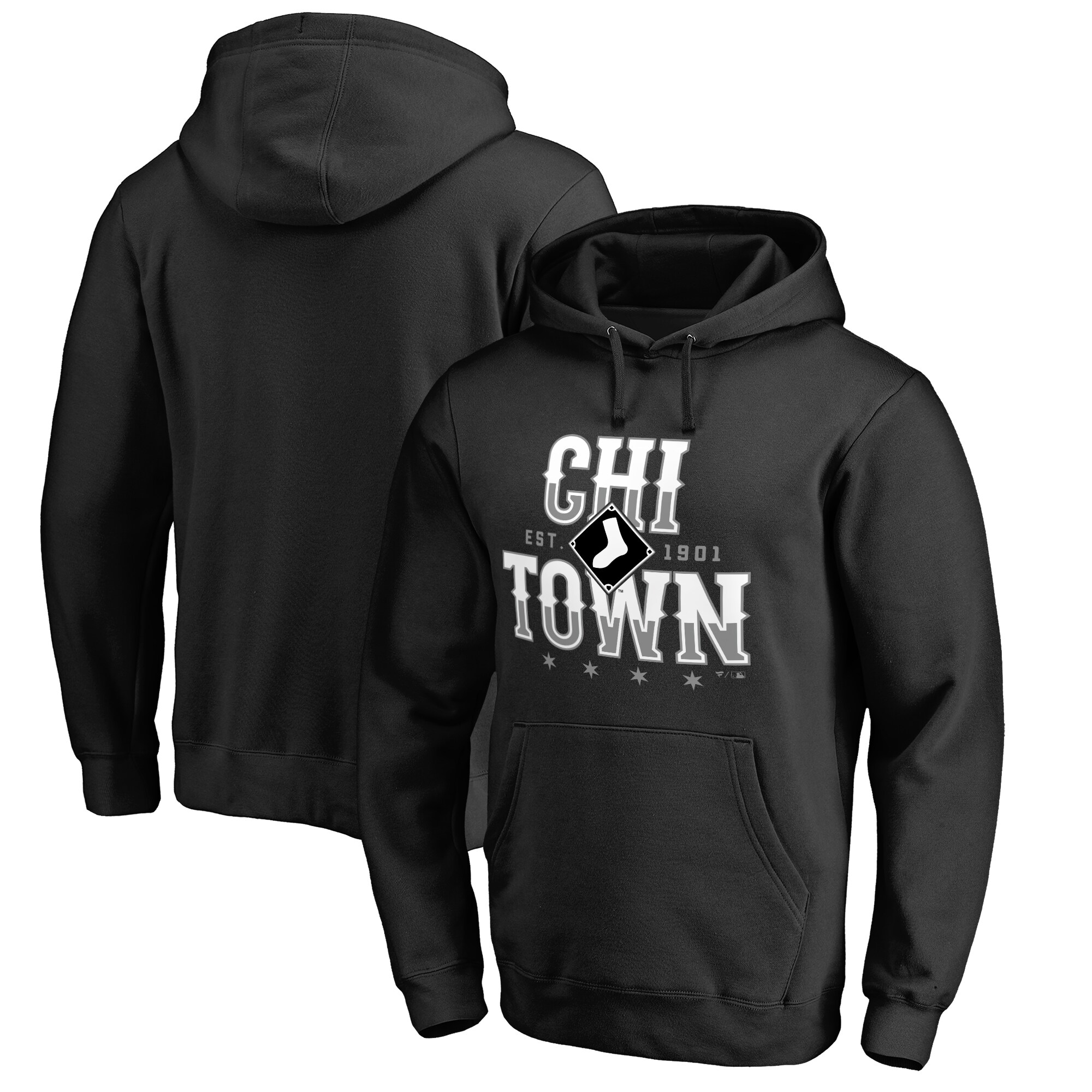 Chicago White Sox Chi Town Hometown Pullover Hoodie - Black