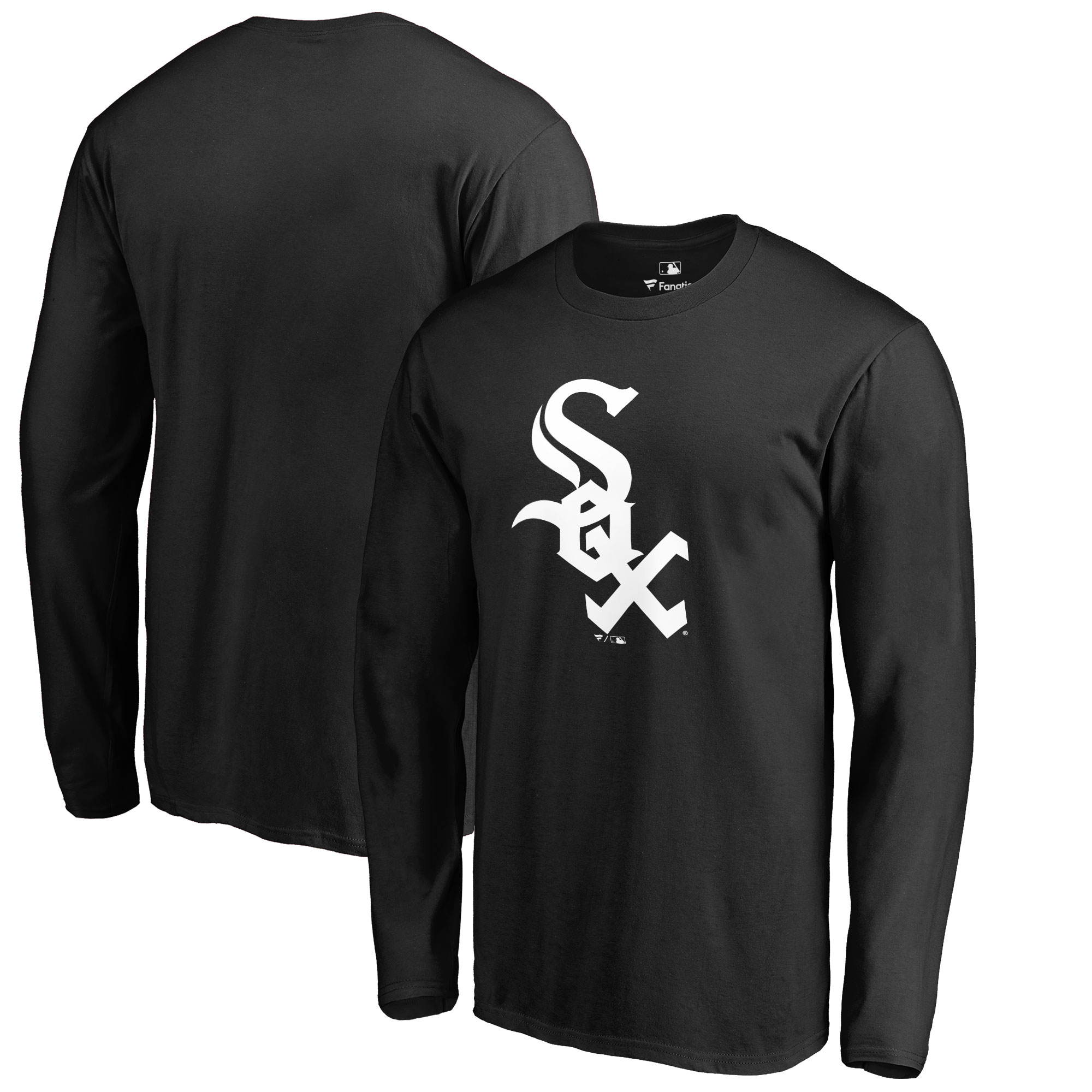 Chicago White Sox Big & Tall Primary Team Logo Long Sleeve T-Shirt - Black