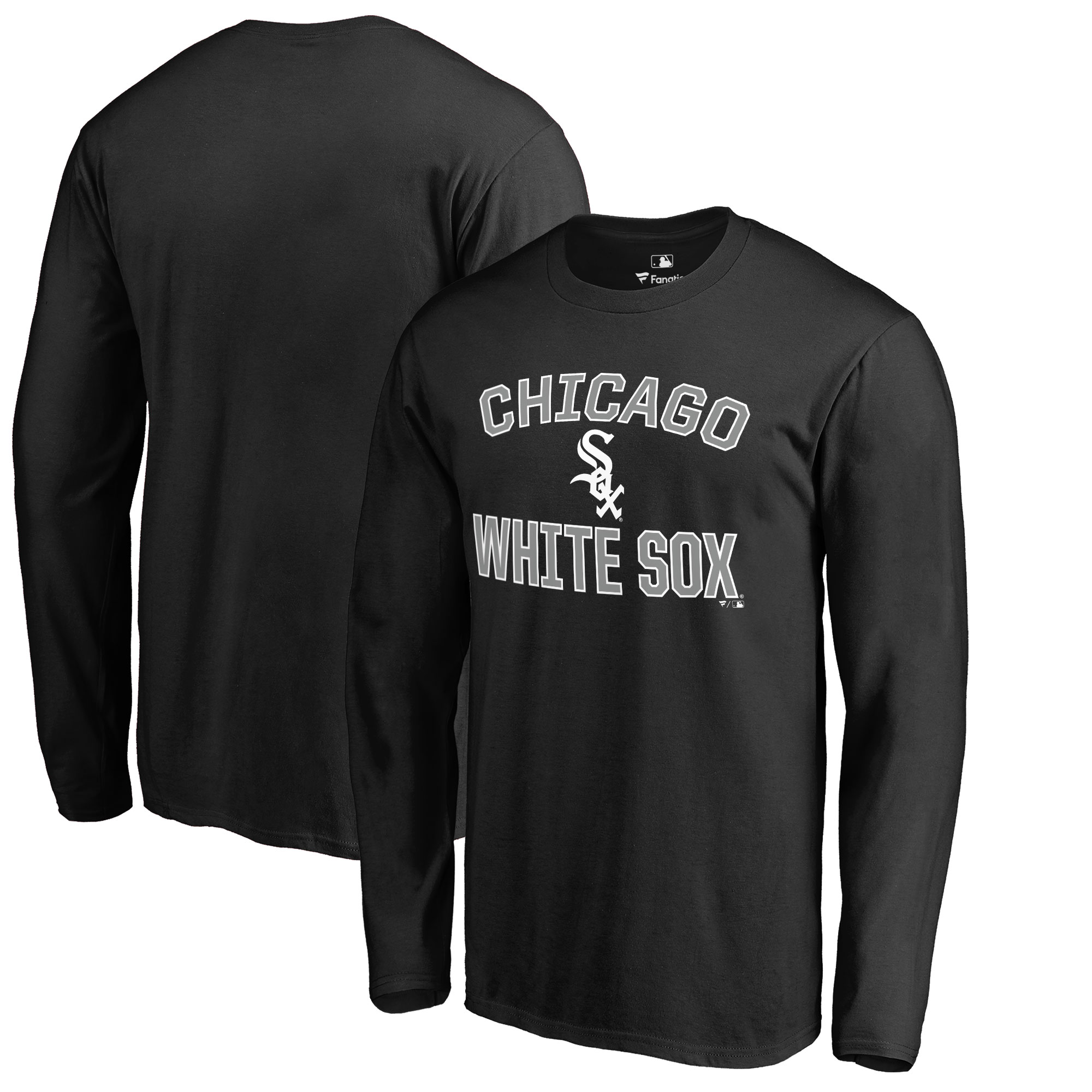 Chicago White Sox Victory Arch Big & Tall Long Sleeve T-Shirt - Black