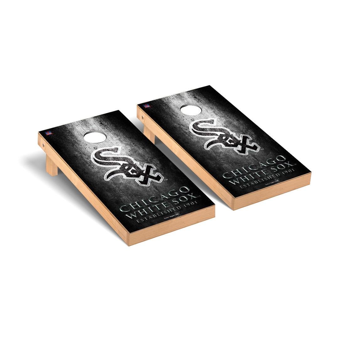 Chicago White Sox 2' x 4' Metal Cornhole Board Tailgate Toss Set