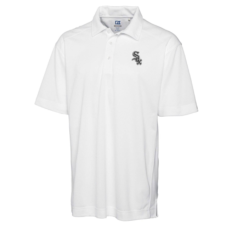 Chicago White Sox Cutter & Buck Big & Tall DryTec Genre Polo - White