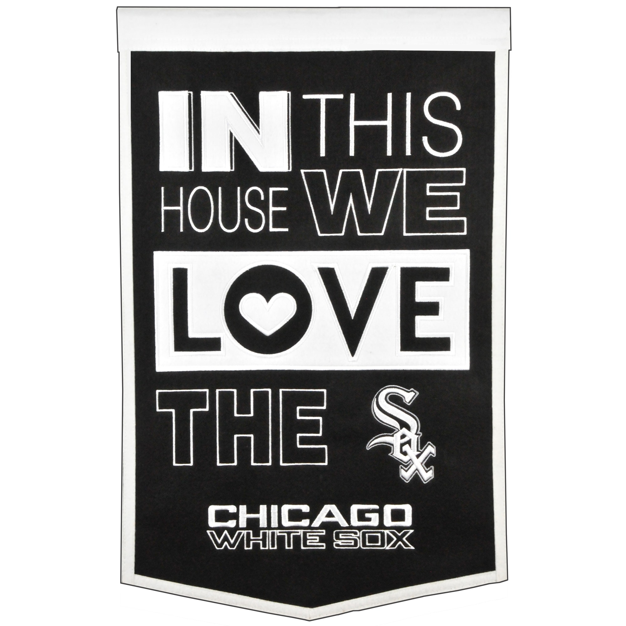 Chicago White Sox 15'' x 24'' Home Banner - Black/White
