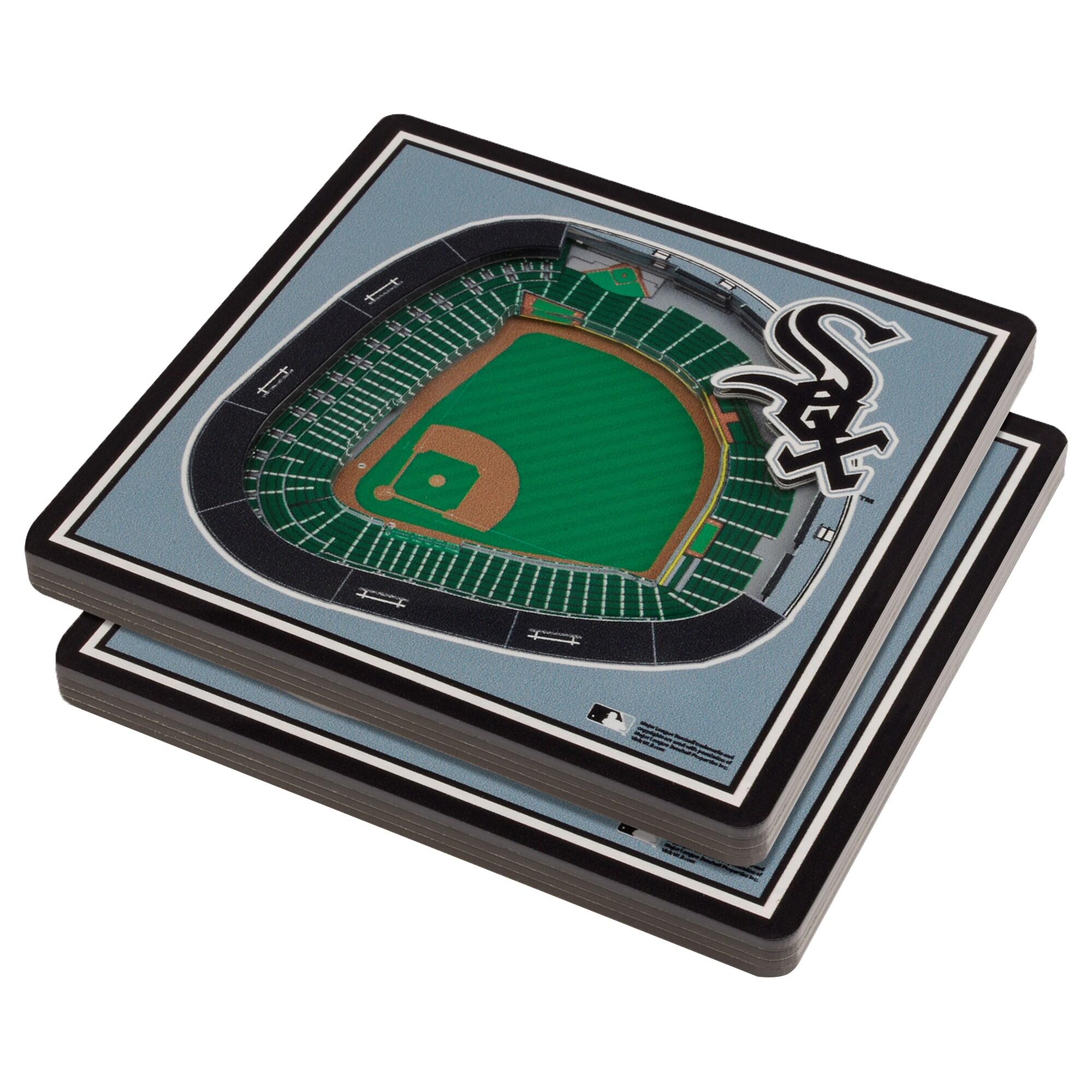 Chicago White Sox 3D StadiumViews Coasters - Gray