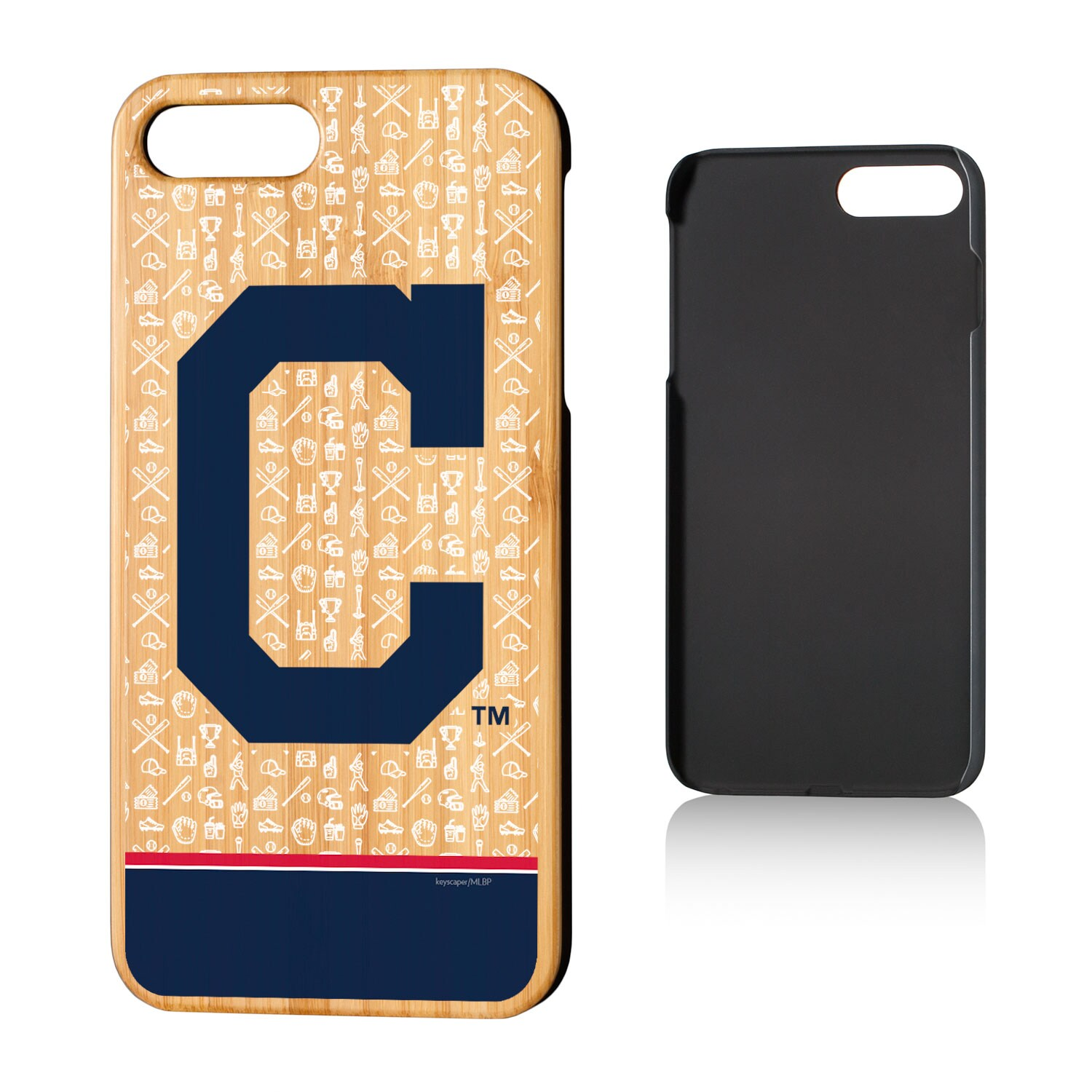 Cleveland Indians iPhone 7 Plus/8 Plus Alternate Stripe Bamboo Case