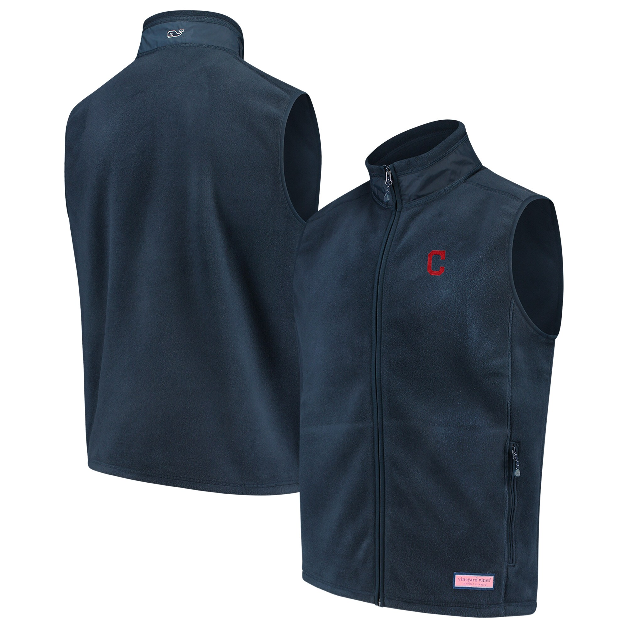 Cleveland Indians Vineyard Vines MLB Fleece Harbor Vest - Navy