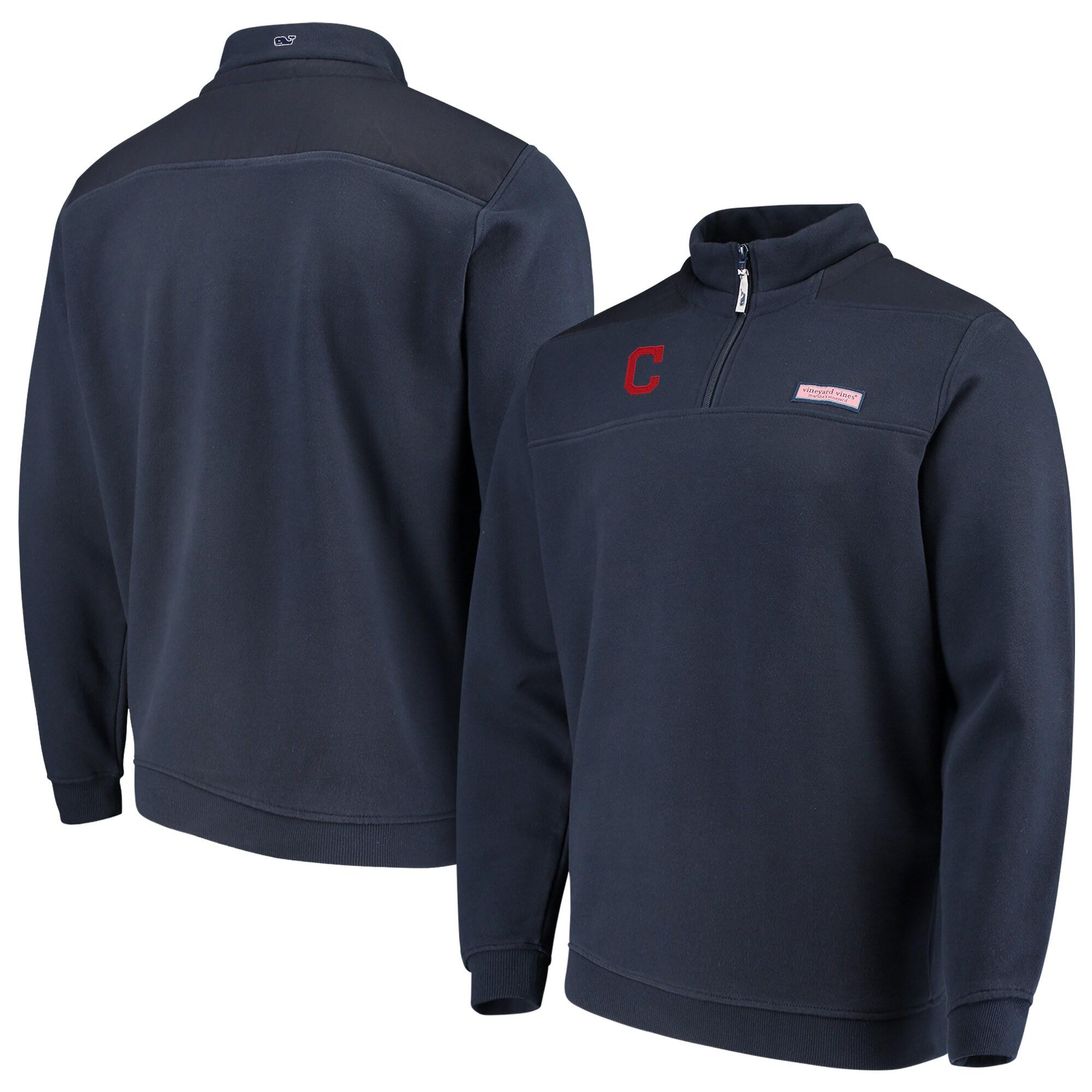 Cleveland Indians Vineyard Vines Shep Shirt Quarter-Zip Pullover Jacket - Navy