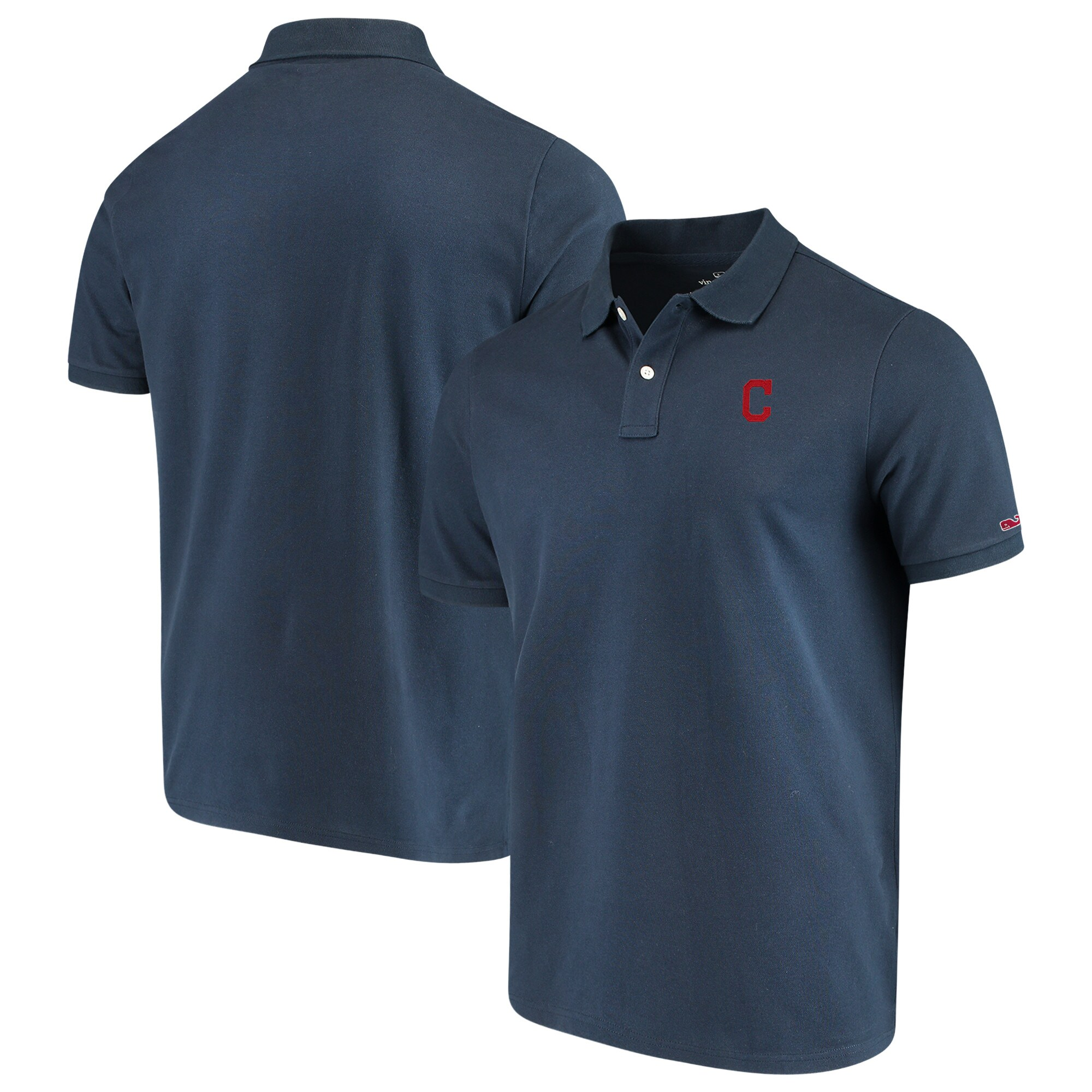 Cleveland Indians Vineyard Vines Stretch Pique Polo - Navy