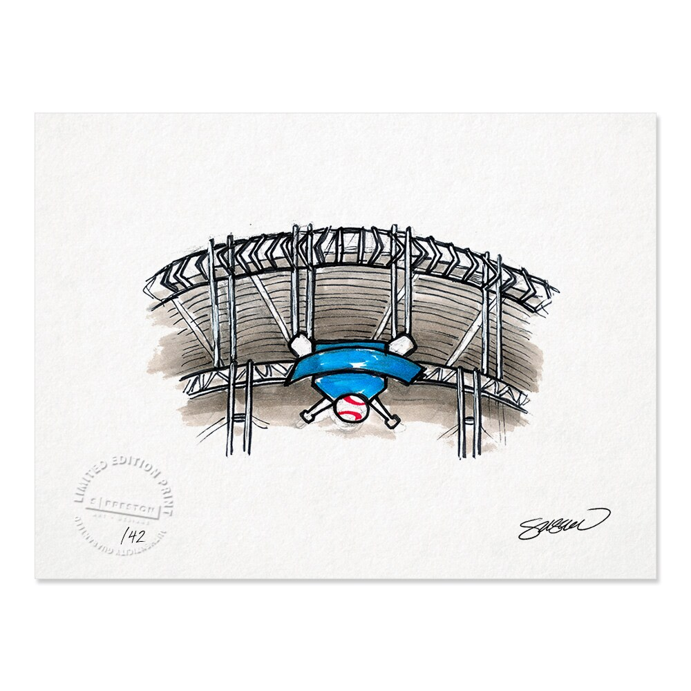 "Cleveland Indians 8.5"" x 11"" Sketch Art Print"