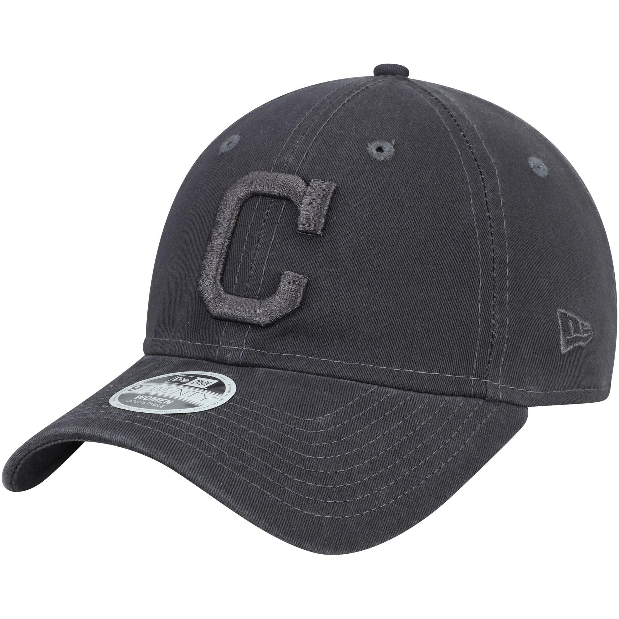 Cleveland Indians New Era Women's Tonal Core Classic 9TWENTY Adjustable Hat - Graphite