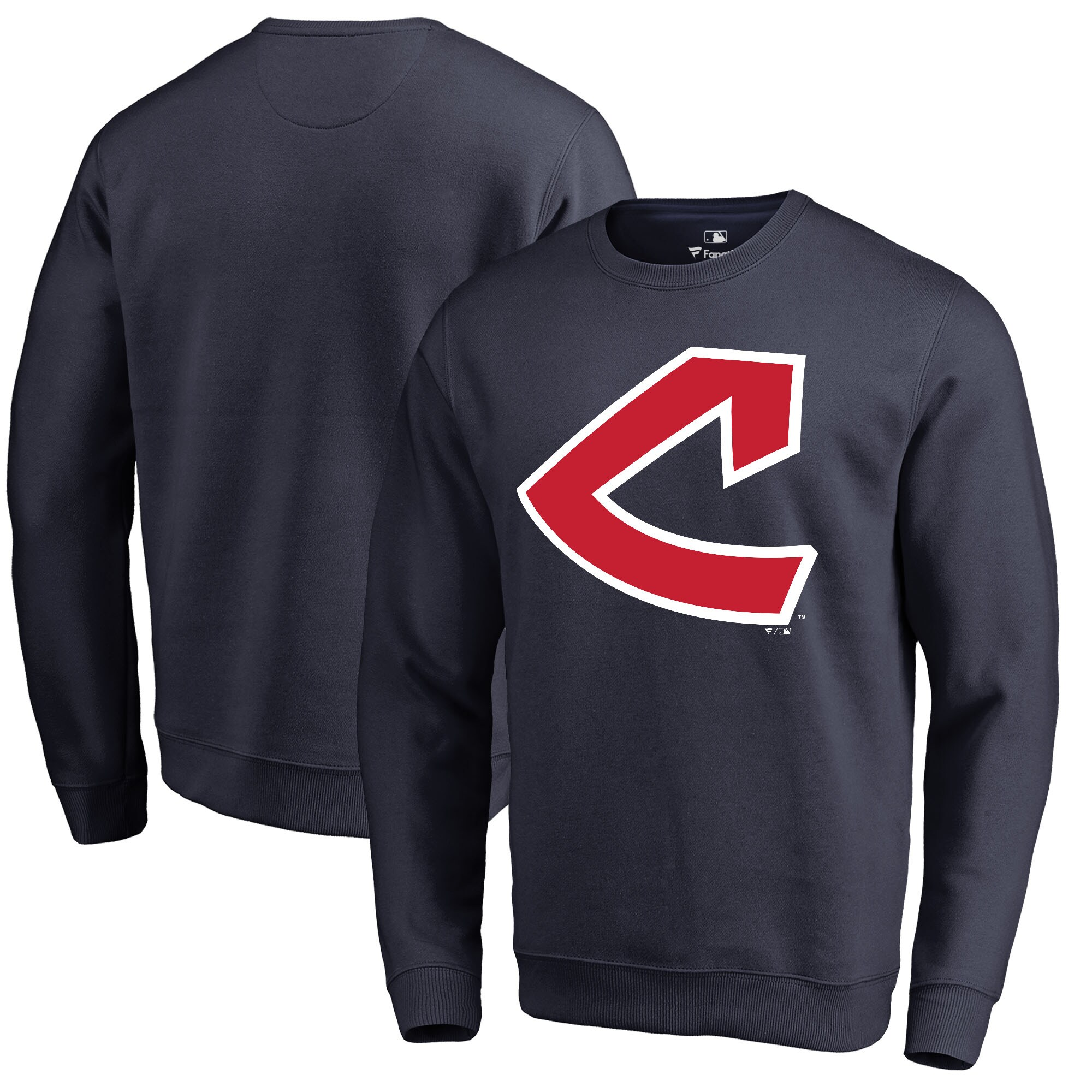 Cleveland Indians Fanatics Branded Cooperstown Collection Huntington Sweatshirt - Navy