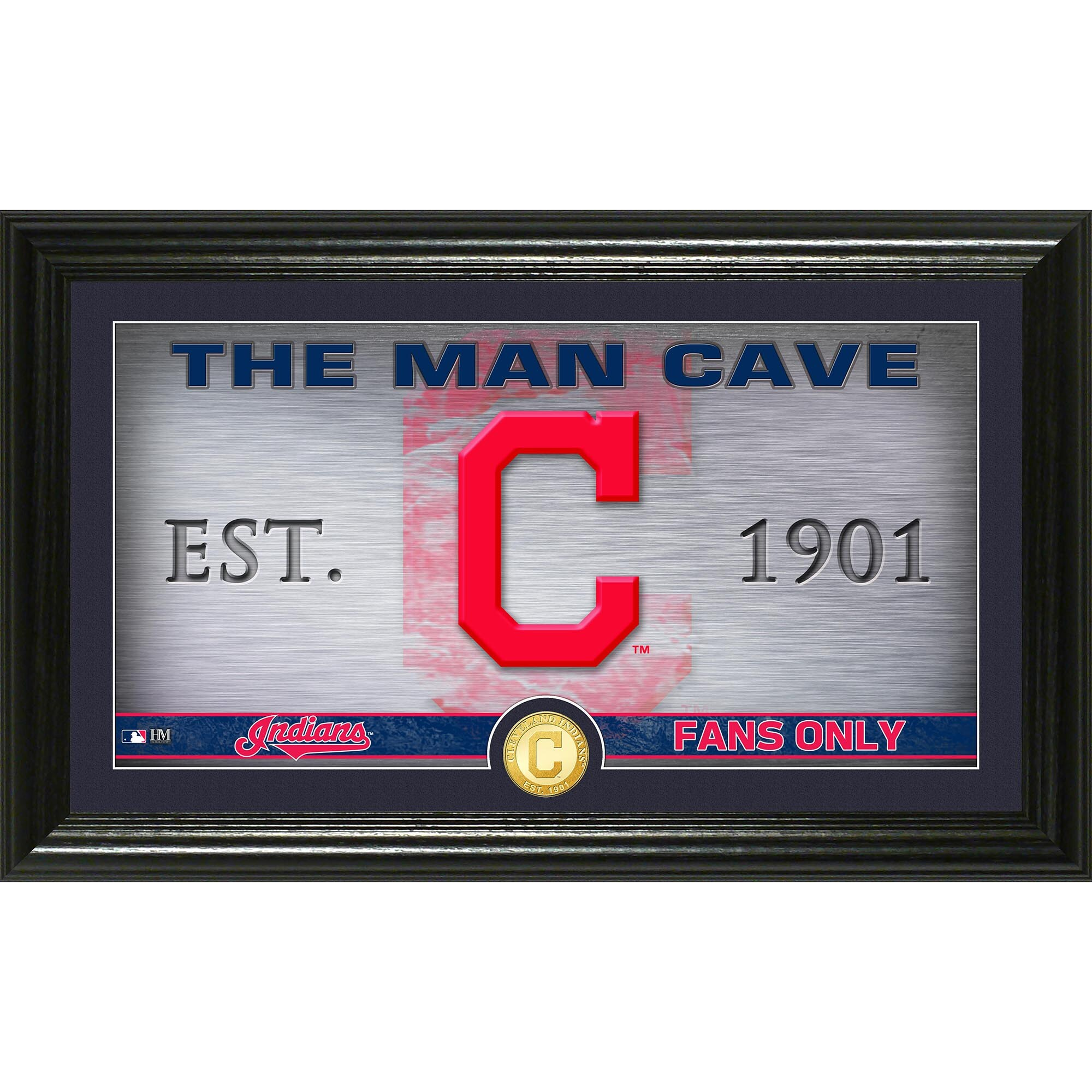 "Cleveland Indians Highland Mint 12"" x 20"" Man Cave Pano Photo Mint"