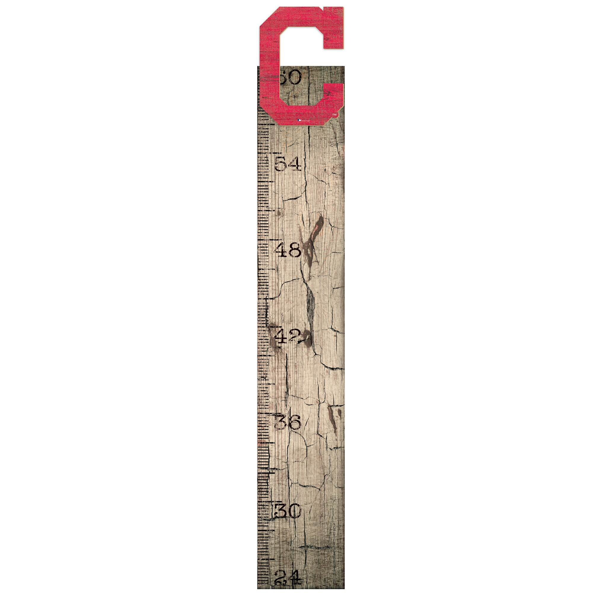 "Cleveland Indians 6"" x 36"" Growth Chart Sign"