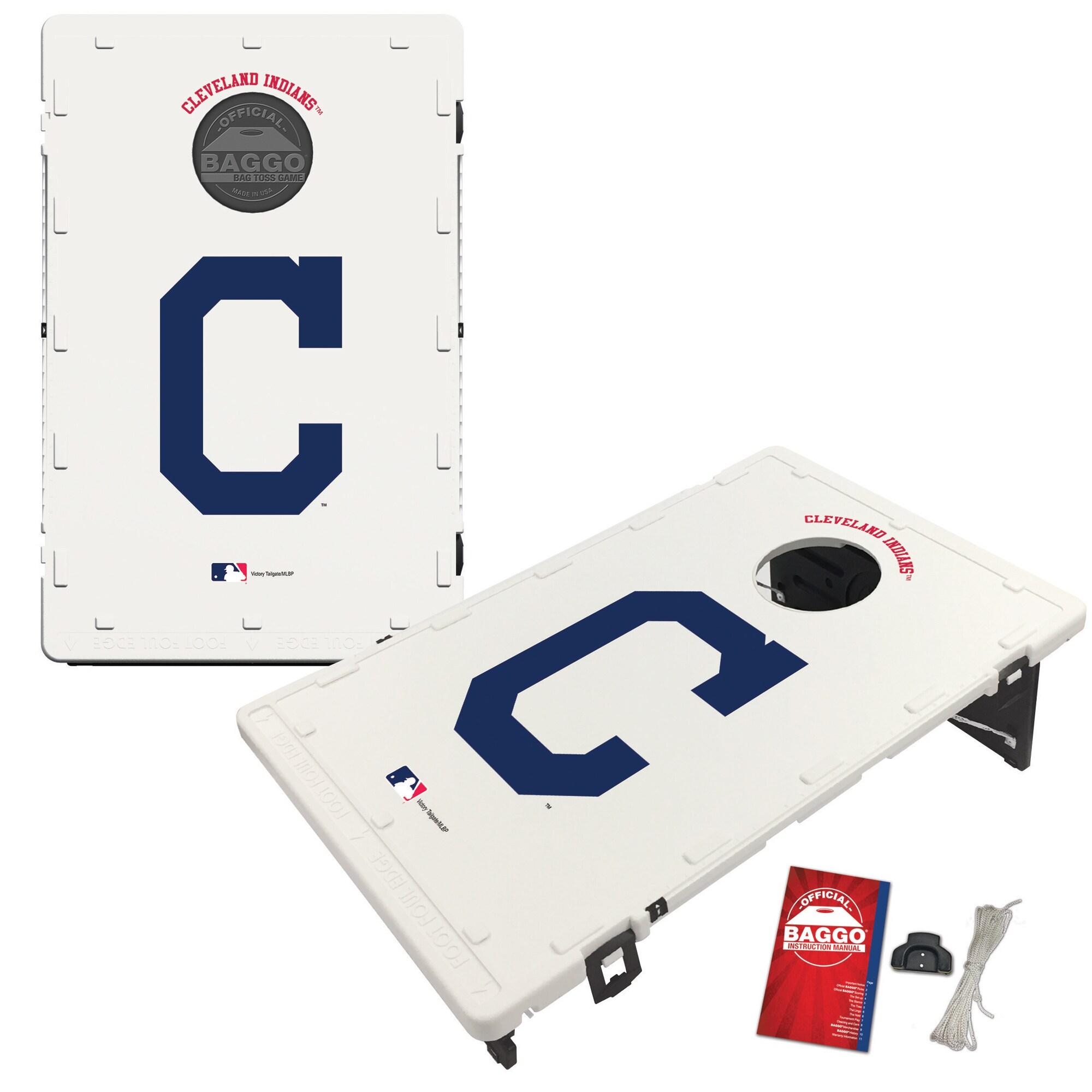 Cleveland Indians 2' x 3' BAGGO Classic Cornhole Board Tailgate Toss Set