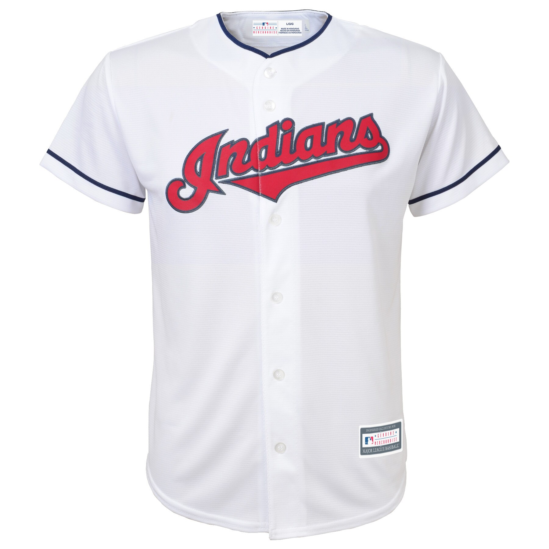 Cleveland Indians Youth Home Replica Blank Team Jersey - White
