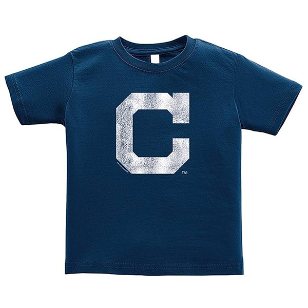 Cleveland Indians Youth Cooperstown T-Shirt - Navy Blue