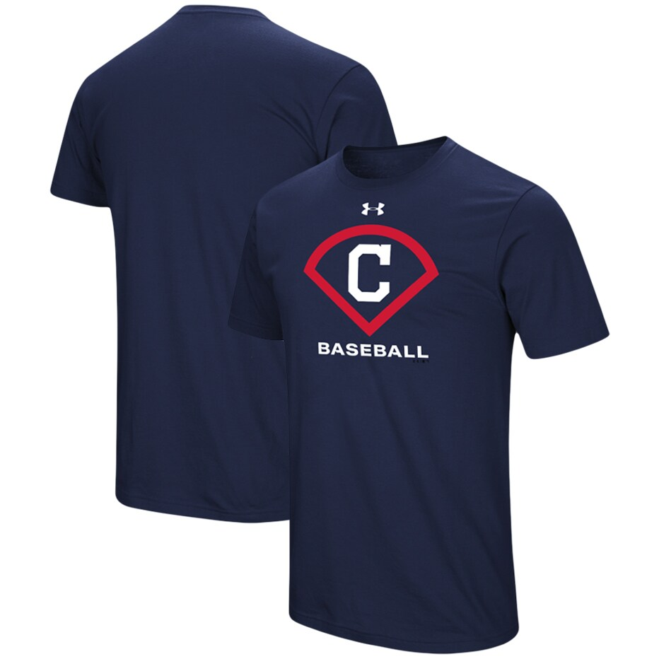 Cleveland Indians Under Armour Performance Icon T-Shirt - Navy