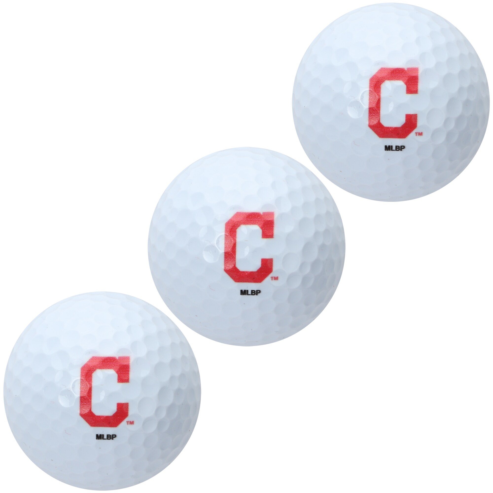 Cleveland Indians Pack of 3 Golf Balls