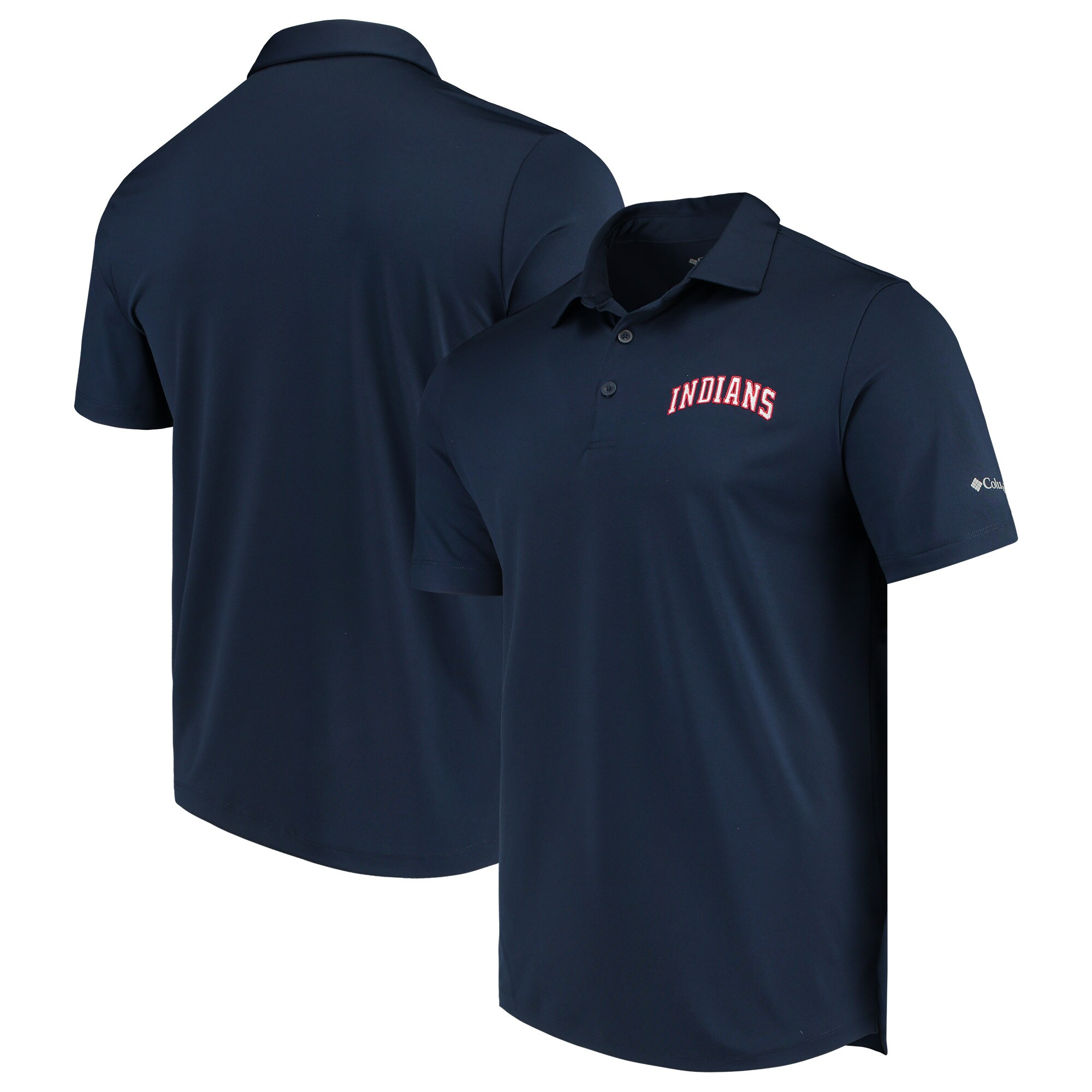 Cleveland Indians Columbia Drive Omni-Wick Polo - Navy
