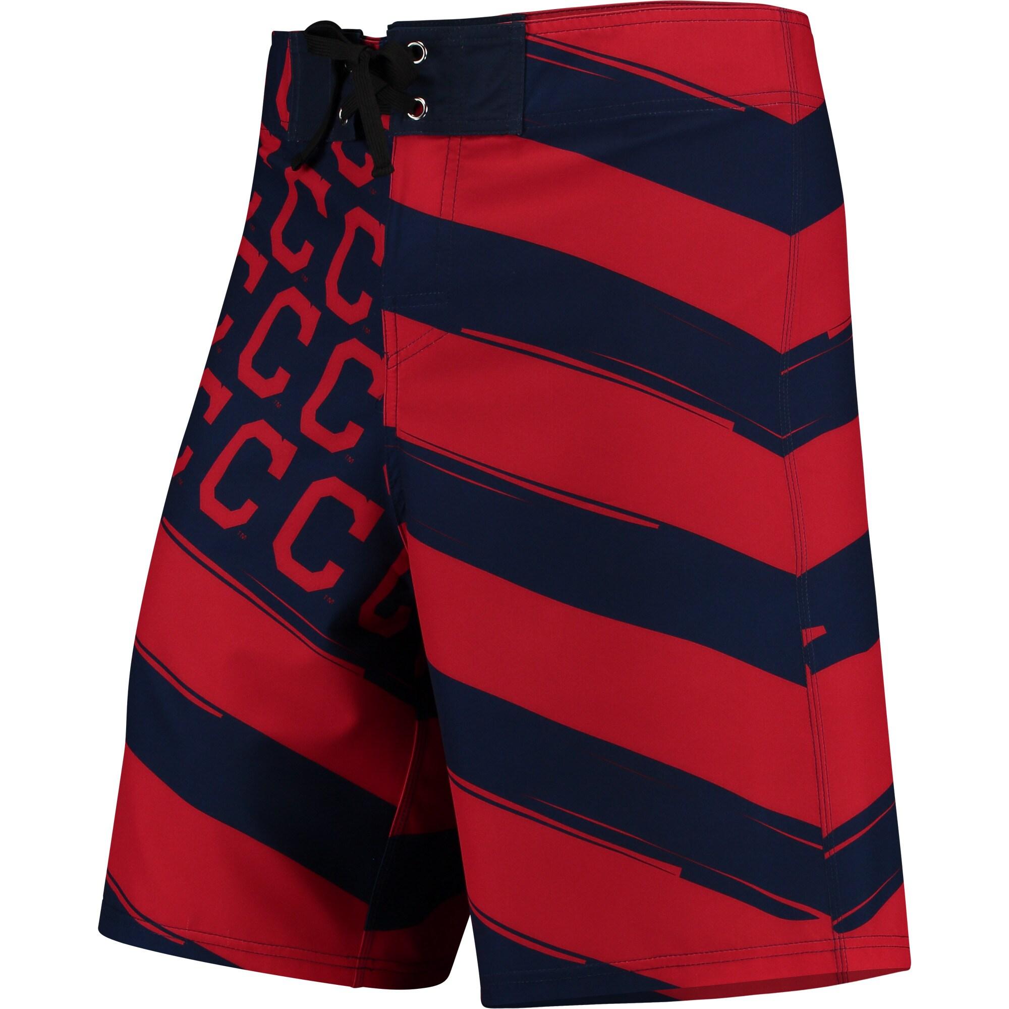 Cleveland Indians Diagonal Flag Boardshorts - Navy/Red
