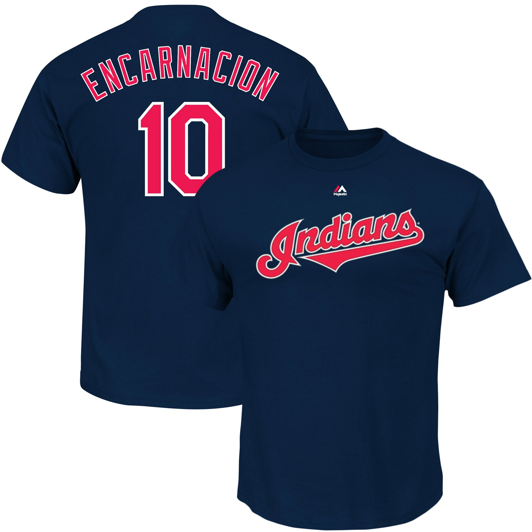 Edwin Encarnacion Cleveland Indians Majestic Official Name & Number T-Shirt - Navy